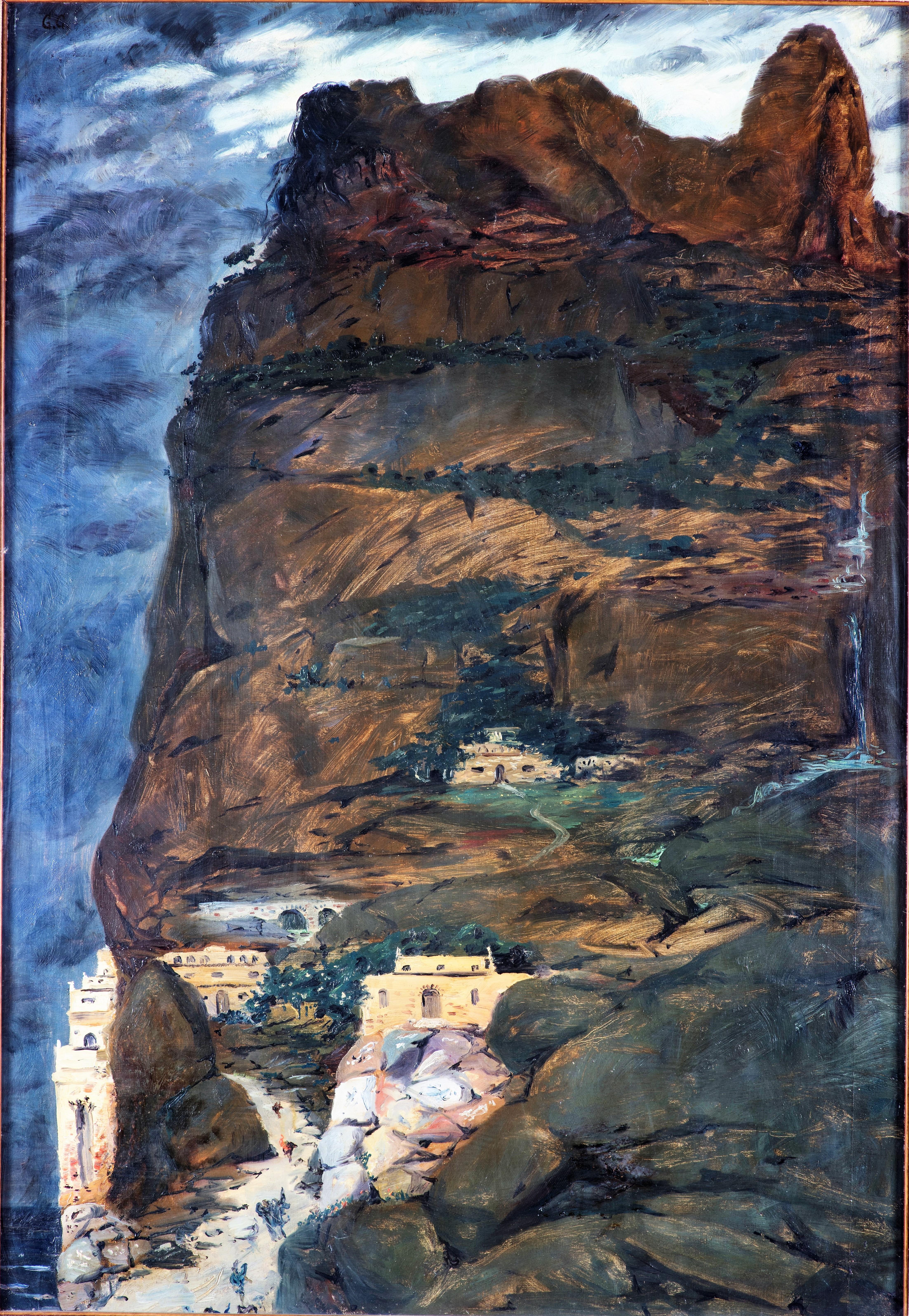 Giorgio de Chirico Prometheus * Prometeo, Herbst 1908 Ol auf Leinwand, 148 × 110 cm Collezione Paolo Volponi Courtesy Porro & C. art consulting, Milano