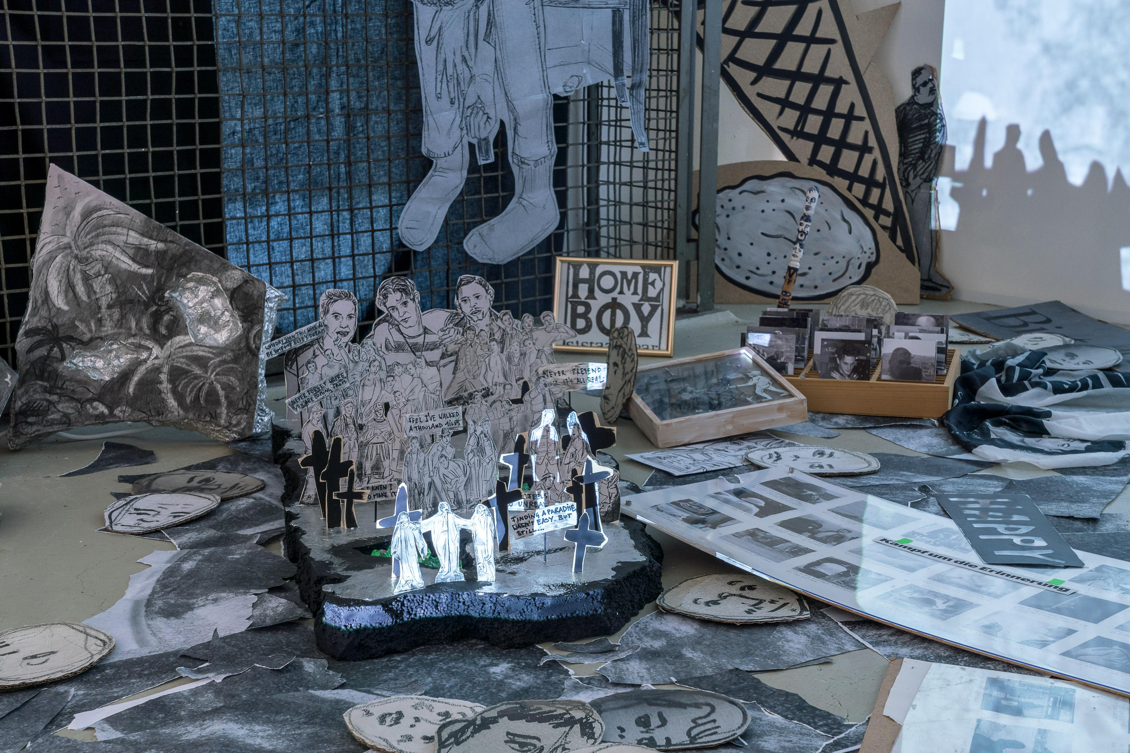 Serena Ferrario (*1986), Open House, 2018, Karl Schmidt-Rottluff-Finalist*innen Installationsansicht, Alte Münze, Berlin © Serena Ferrario Foto: Stefan Lucks