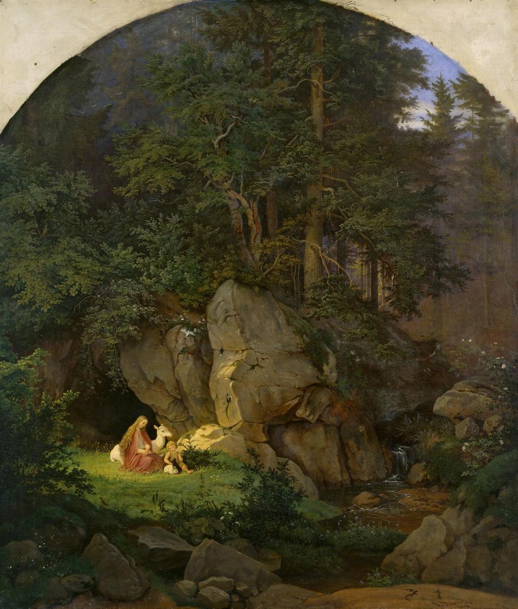 Ludwig Richter, »Genoveva in der Waldeinsamkeit«, 1841, © Hamburger Kunsthalle / bpk, Foto: Elke Walford