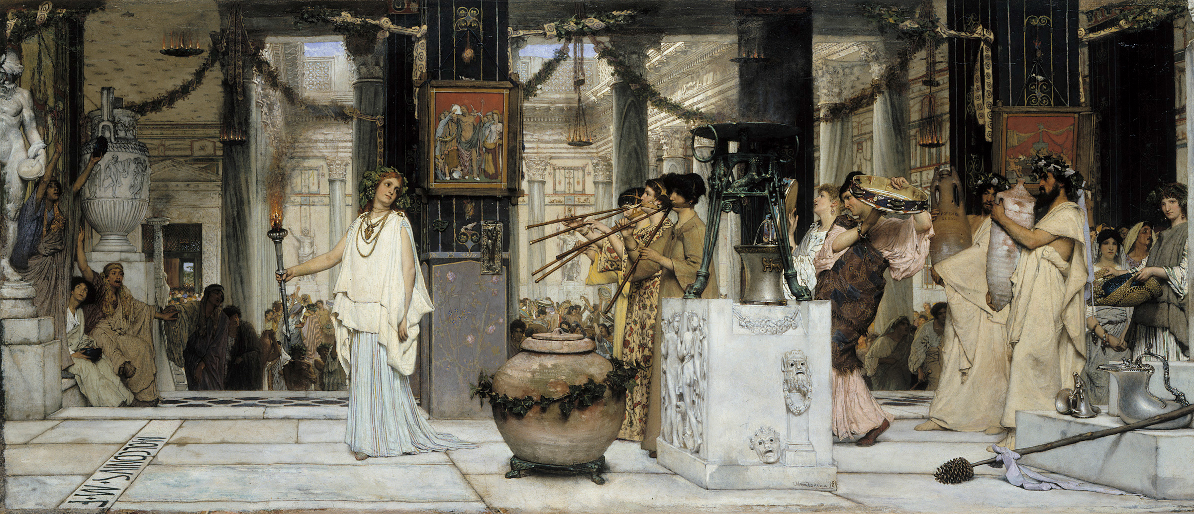 Lawrence Alm-Tadema: Das Fest der Weinlese, 1871.  © Hamburger Kunsthalle / bpk Foto: Elke Walford