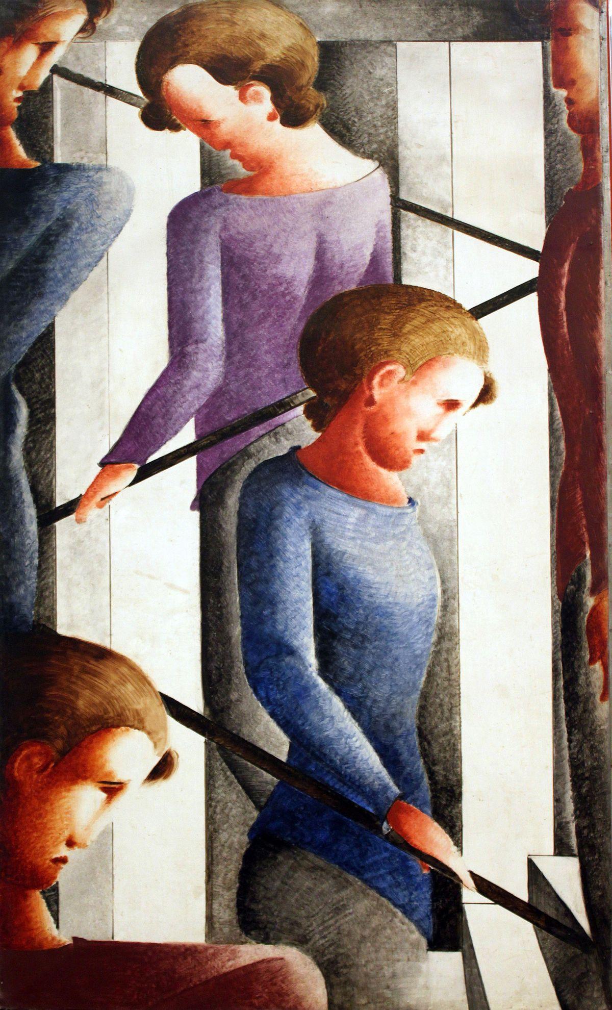 Oskar Schlemmer (1888 - 1943), Treppenszene, 1932, © Hamburger Kunsthalle / bpk, Foto: Elke Walford