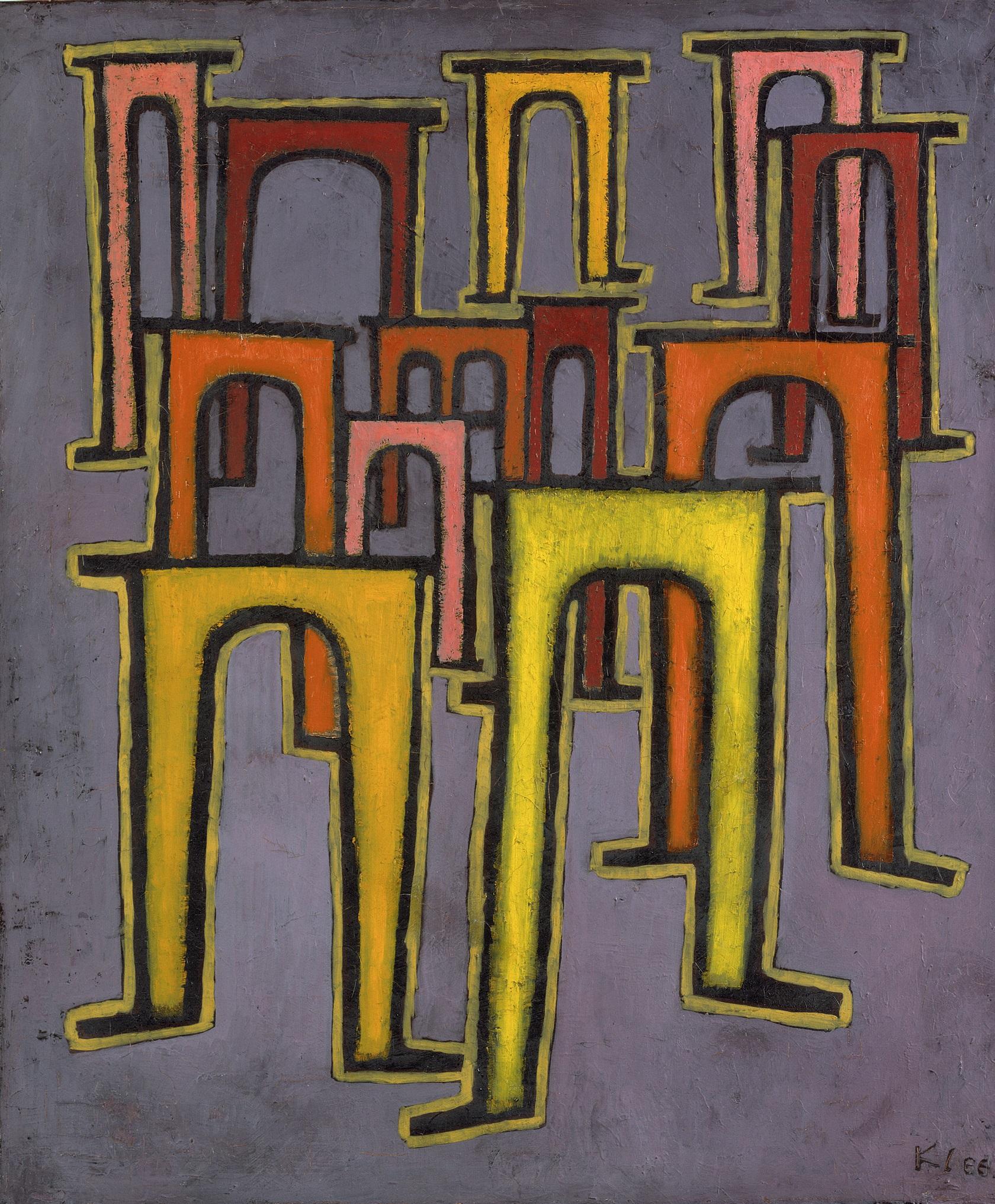 Paul Klee:  Revolution des Viaductes, 1937; ©Hamburger Kunsthalle / bpk; Foto: Elke Walford