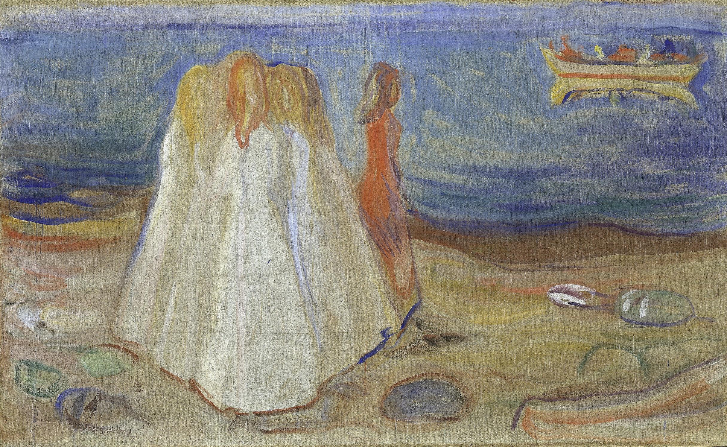 Edvard Munch (1863 - 1944) Mädchen am Meer, 1906/07 © Hamburger Kunsthalle / bpk; Foto: Elke Walford