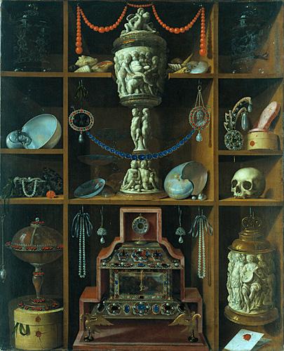 Johann Georg Hinz (um 1630/31 - 1688) Kunstkammerregal Öl auf Leinwand © Hamburger Kunsthalle / bpk Foto: Elke Walford
