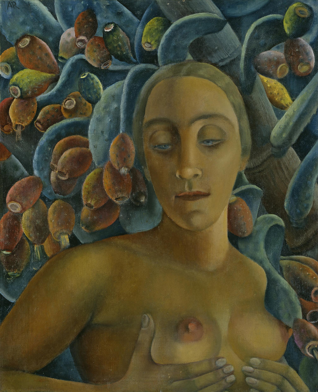 Anita Rée (1885 - 1933): Halbakt vor Feigenkaktus, 1925 © Hamburger Kunsthalle / bpk, Foto: Elke Walford