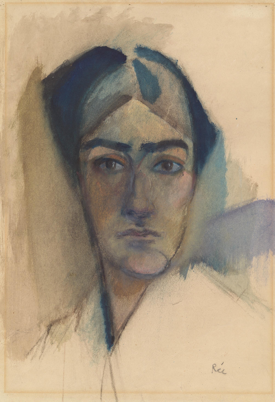Anita Rée (1885–1933): Selbstbildnis, um 1913, Kohle und Aquarell, 44,5 x 32 cm © Hamburger Kunsthalle / bpk, Foto: Christoph Irrgang