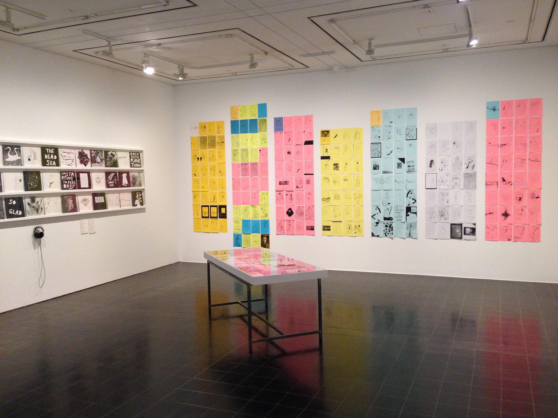 Ausstellungsansicht_ Stefan Marx_ Künstlerbücher_Hamburger Kunsthalle 2017, Foto: Hamburger Kunsthalle