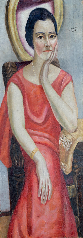 Max Beckmann Bildnis Käthe von Porada, 1924, Öl auf Leinwand, 120 x 43 cm, Städel Museum, Frankfurt am Main Foto: Städel Museum – ARTOTHEK, Foto: U. Edelmann