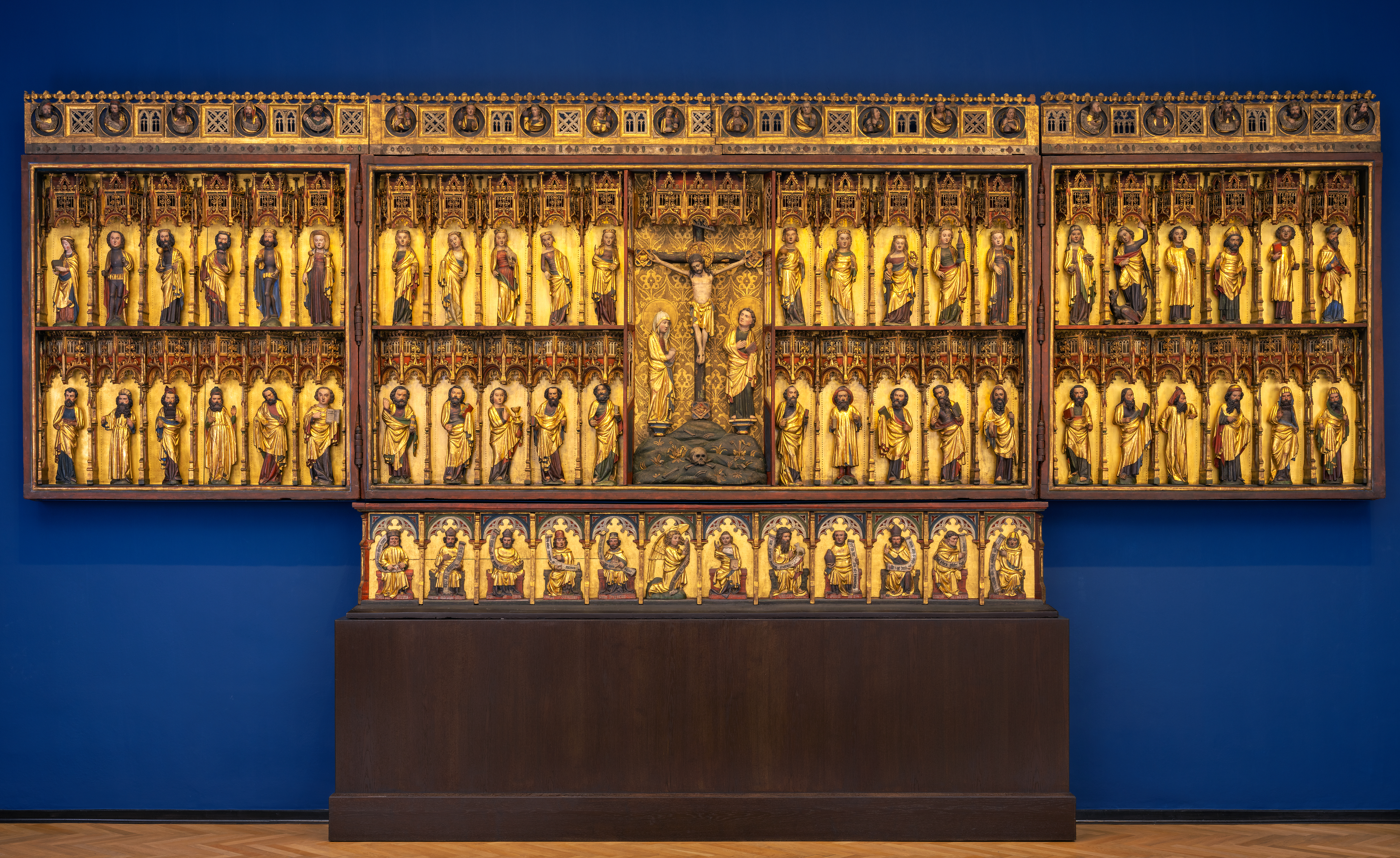 Bertram von Minden,Retabel des ehemaligen Hochaltars der Petrikirche in Hamburg (Grabower Altar), 1379/83,© Hamburger Kunsthalle / bpk, Foto: Elke Walford