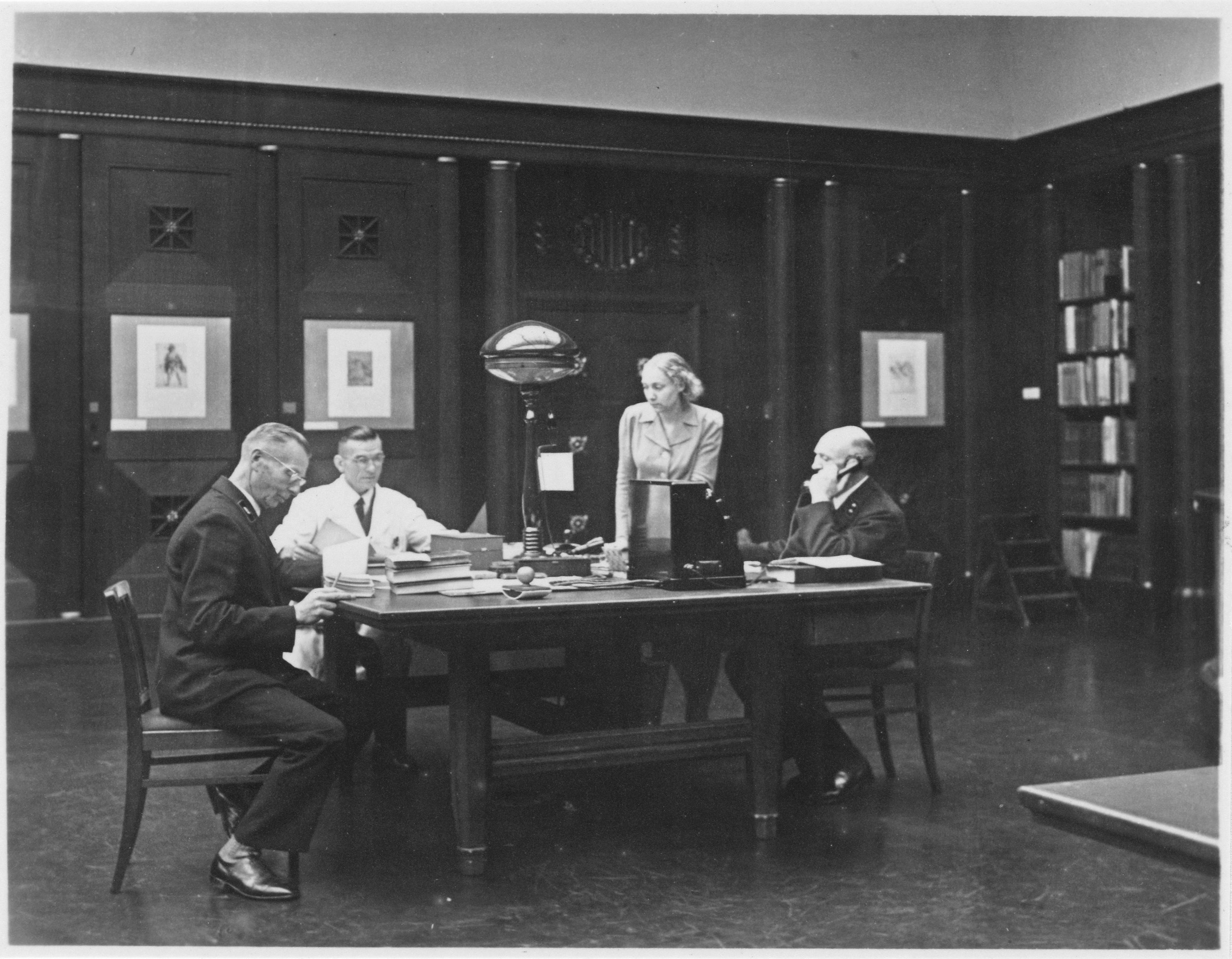 Hamburger Kunsthalle, Kupferstichkabinett, 1940er Jahre, Bibliothek, Ansicht