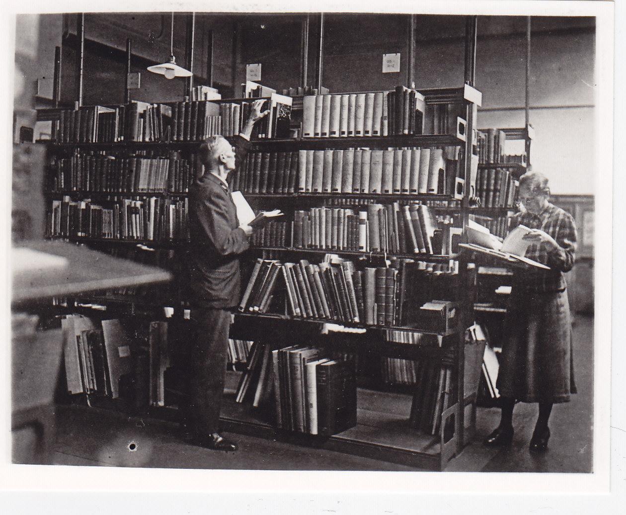 Hamburger Kunsthalle, Weihnachten 1942, Bibliothek, Bibliotheksmagazin