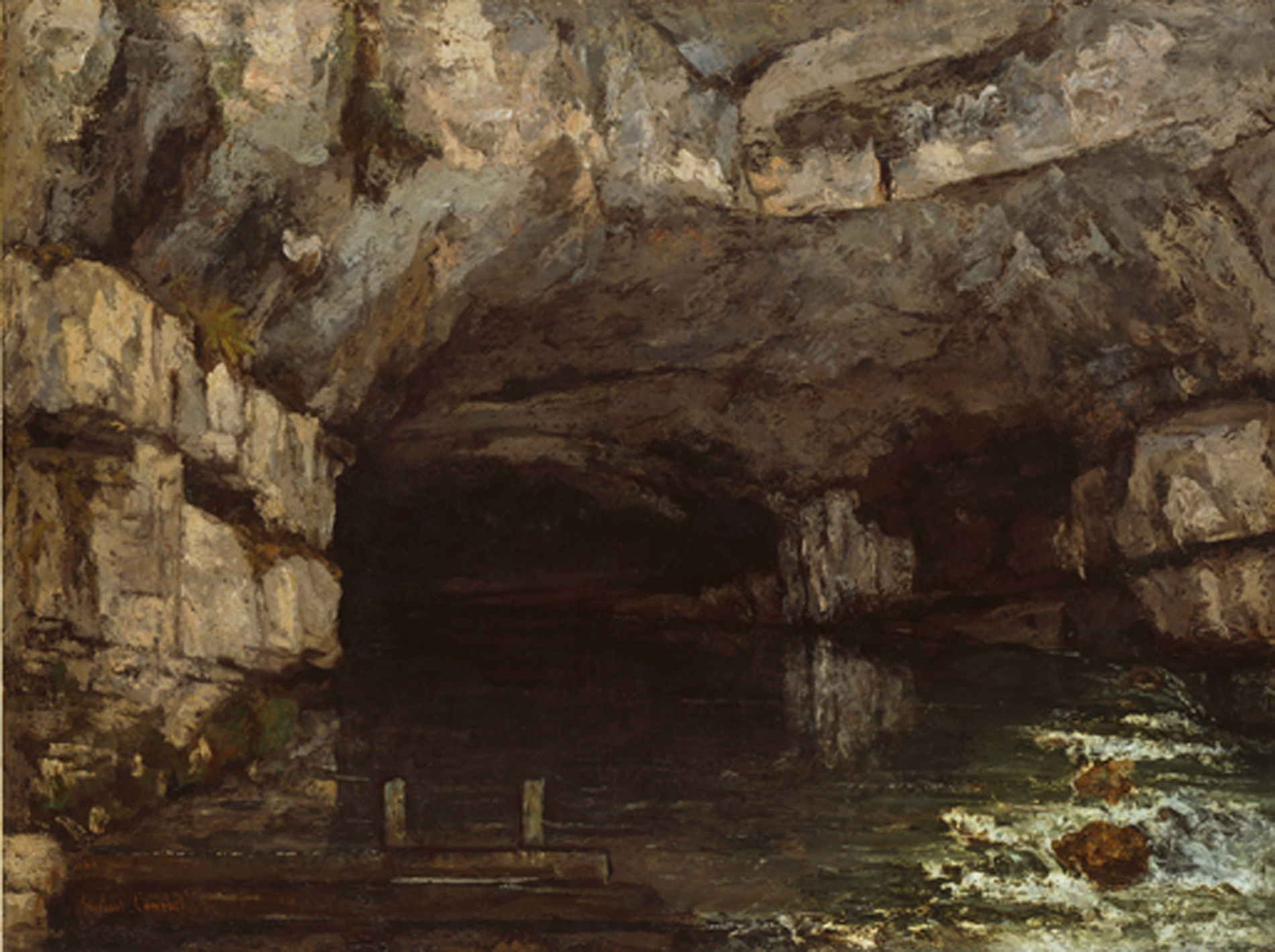 Gustave Courbet, (1819 - 1877), Die Grotte der Loue, 1864, © Hamburger Kunsthalle / bpk Foto: Elke Walford
