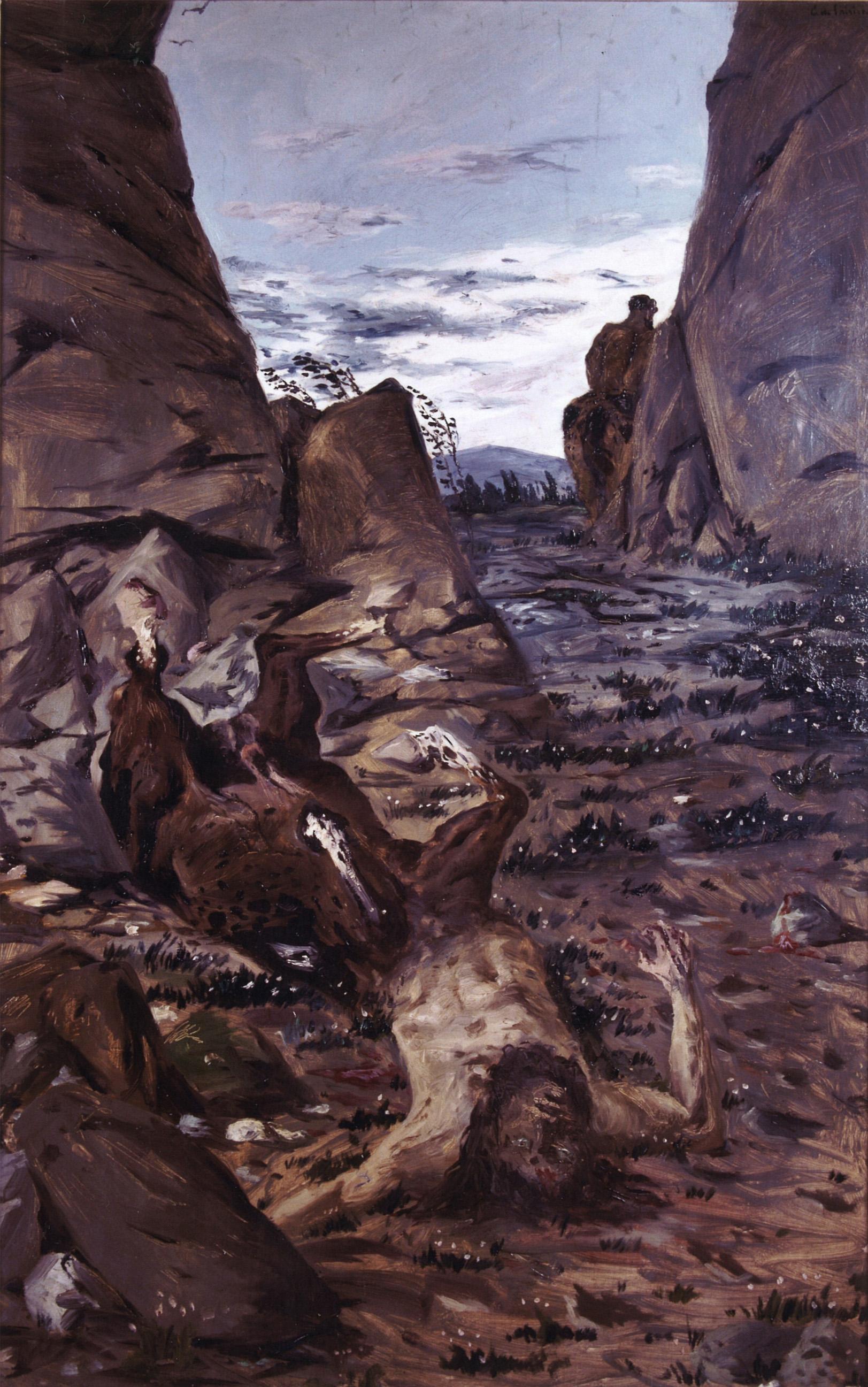 GIORGIO DE CHIRICO Sterbender Zentaur (Centaure mourant), Frühjahr 1909 118 x 75 cm Öl auf Leinwand, Assicurazioni Generali  Photo ©  Assicurazioni Generali