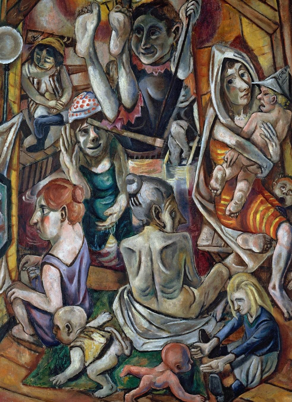 Max Beckmann Frauenbad, 1919, 97,5 x 65 cm Staatliche Museen zu Berlin Nationalgalerie 1968 erworben durch das Land Berlin,  © VG Bild-Kunst, Bonn 2020