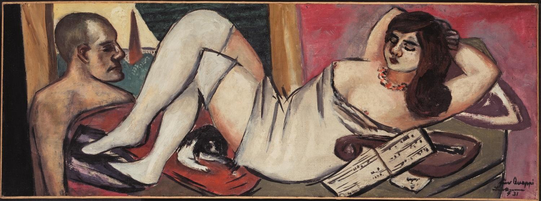 Max Beckmann, Siesta, 1931, Privatbesitz, © VG Bild-Kunst, Bonn 2020, Foto: Fotostudio Bartsch, Berlin