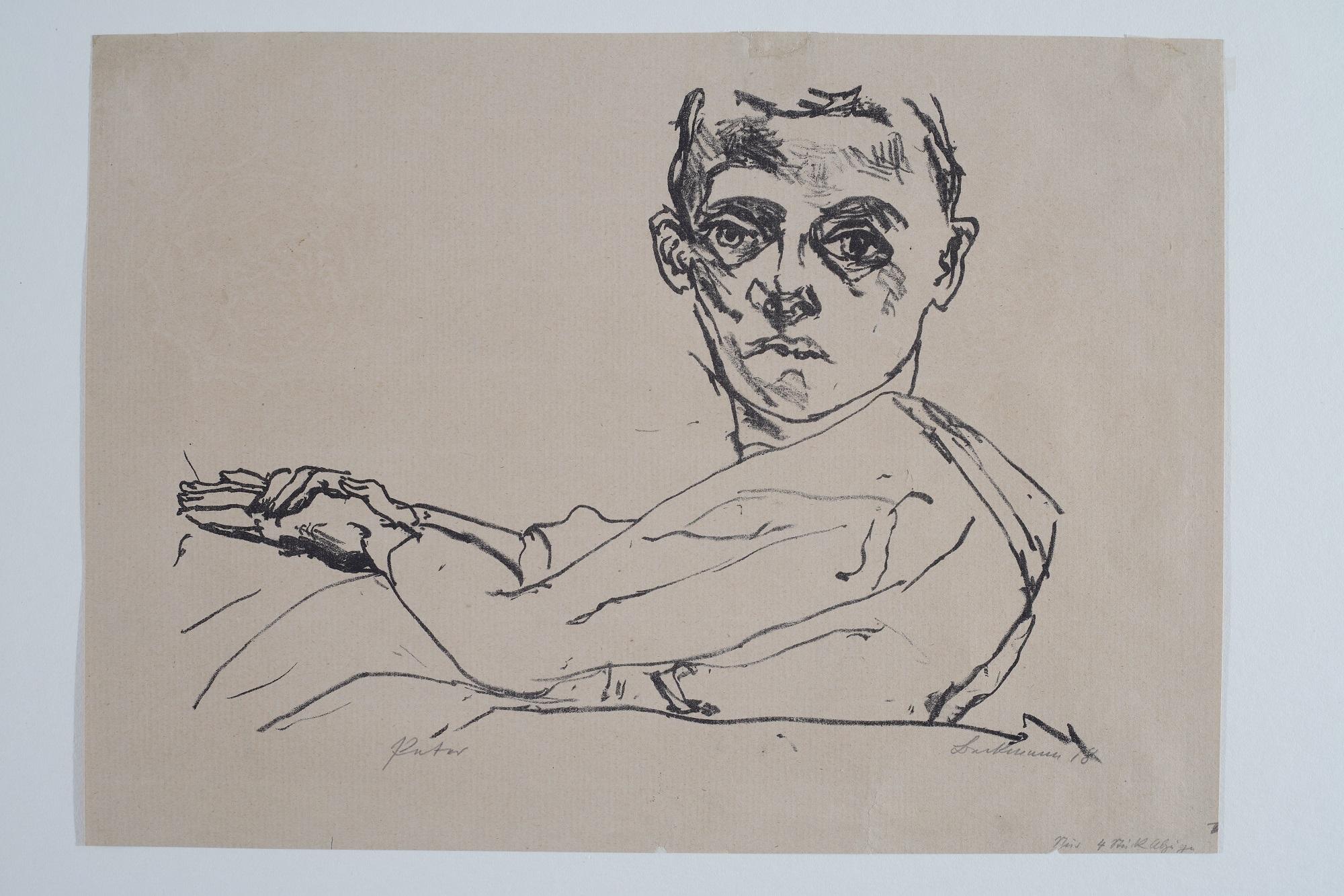 Max Beckmann, Bildnis Peter Beckmann, 1918, Privatbesitz Deutschland