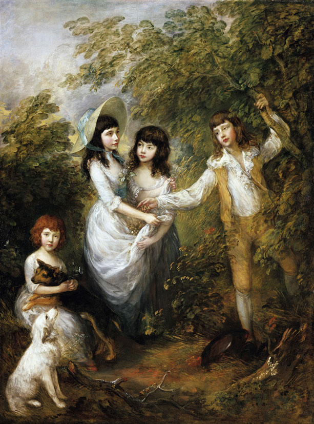 Thomas Gainsborough (1727-1788), Amelia Charlotte, Frances, Harriot und Charles Marsham (»Die Marsham-Kinder«), 1787, Öl auf Leinwand, 242,9 x 181,9 cm, Staatliche Museen zu Berlin, Gemäldegalerie © bpk/Gemäldegalerie, SMB /Jörg P. Anders