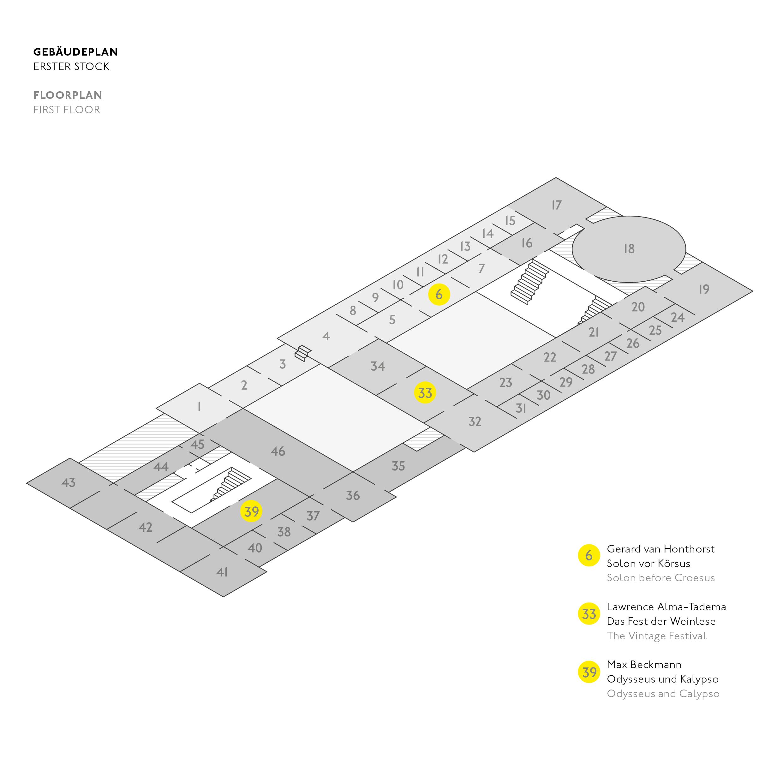 Gebäudeplan zu Mein Blick, Hamburger Kunsthalle