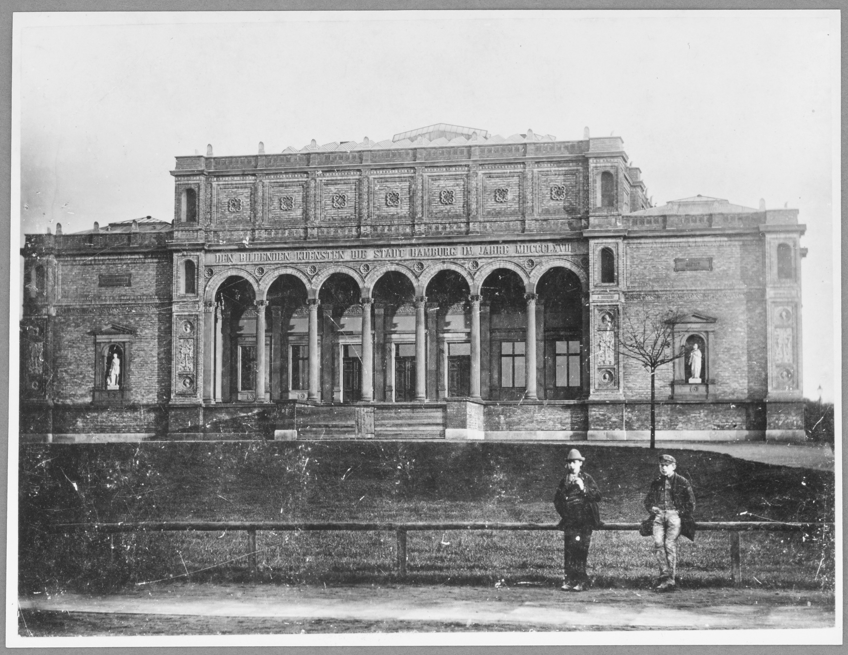 Gründungsbau der Hamburger Kunsthalle, vor 1889 © Hamburger Kunsthalle Foto: Hermann Priester