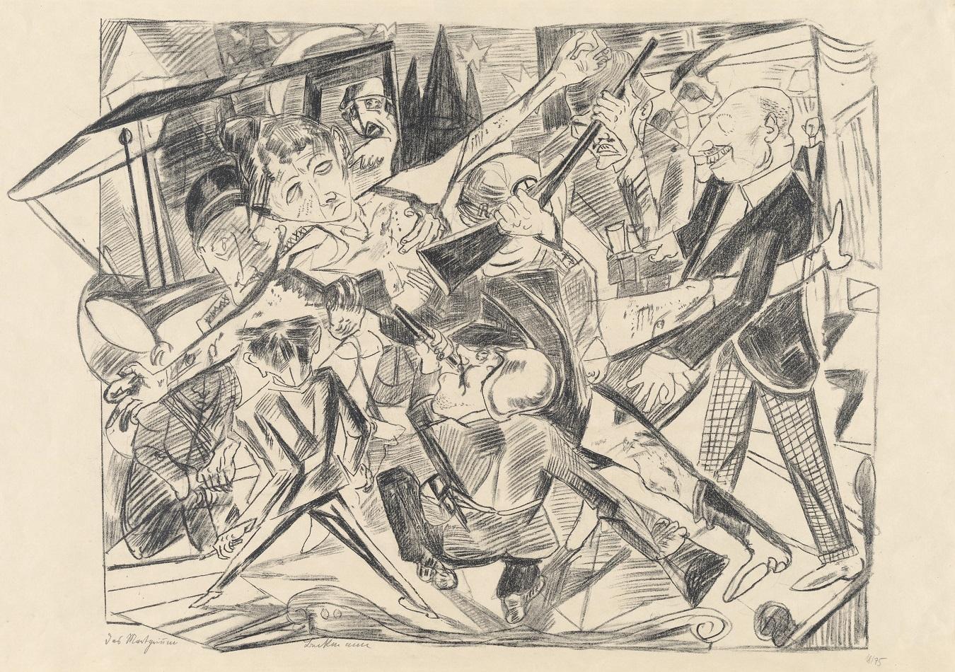 Max Beckmann, Das Martyrium (Folge: Die Hölle, Blatt 3), 1919, Lithographie, 61 x 87 cm, © Sammlung Hegewisch/courtesy Hamburger Kunsthalle © VG Bild-Kunst, Bonn  2020, Foto: Christoph Irrgang