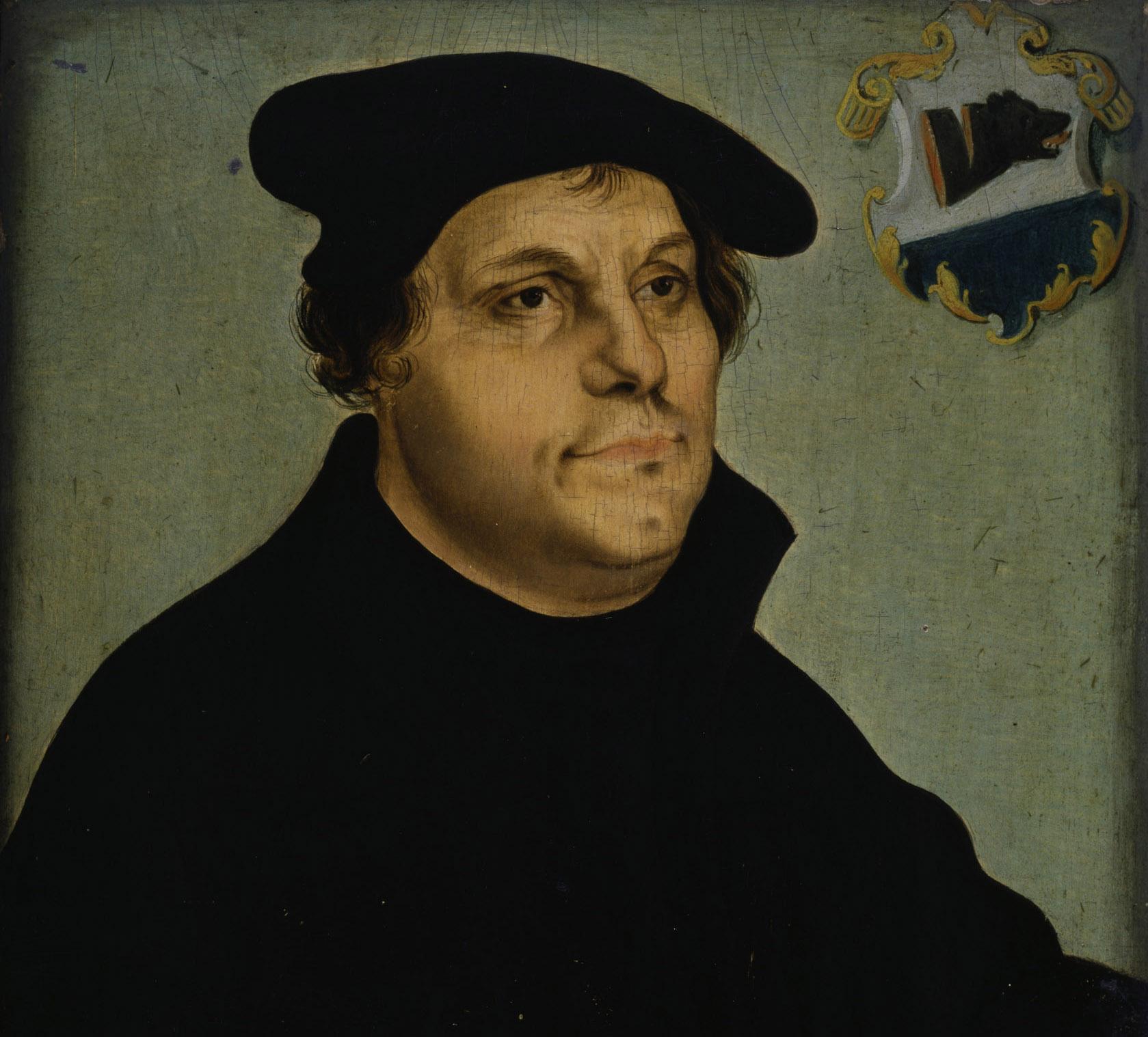Lucas Cranach d. Ä. (1472 - 1553): Martin Luther © Hamburger Kunsthalle / bpk, Foto: Elke Walford