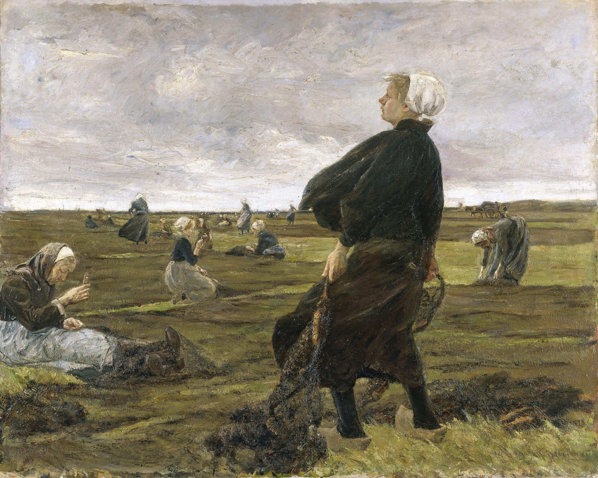 Max Liebermann (1847-1835): Die Netzflickerinnen, 1887/89 © Hamburger Kunsthalle / bpk. Foto: Elke Walford