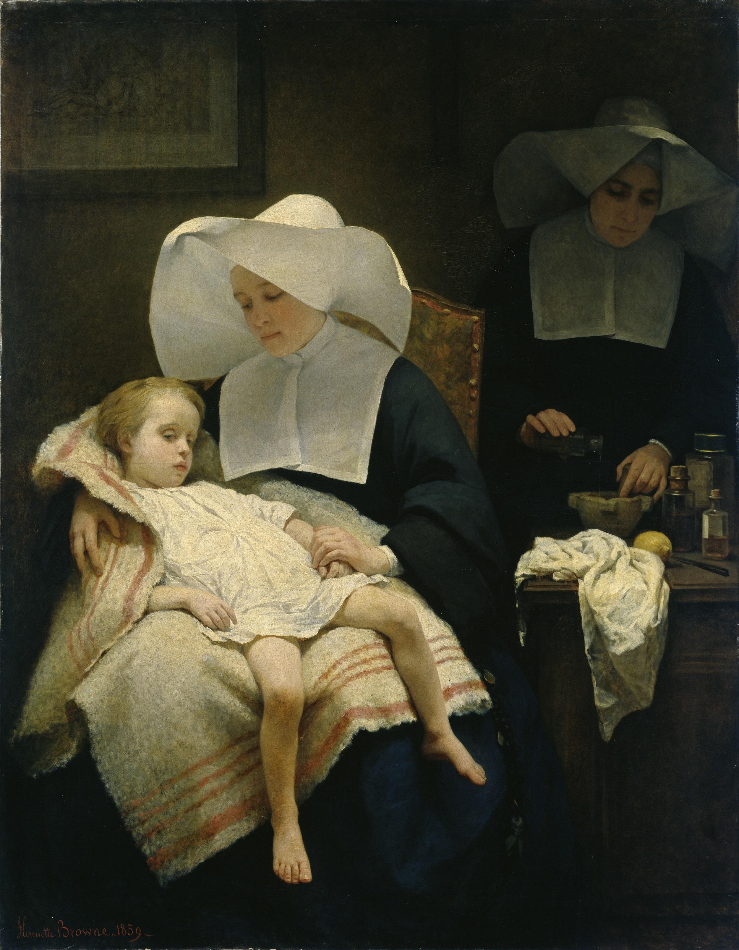 Henriette Browne, Die barmherzigen Schwestern, 1859,© Hamburger Kunsthalle / bpk Foto: Elke Walford