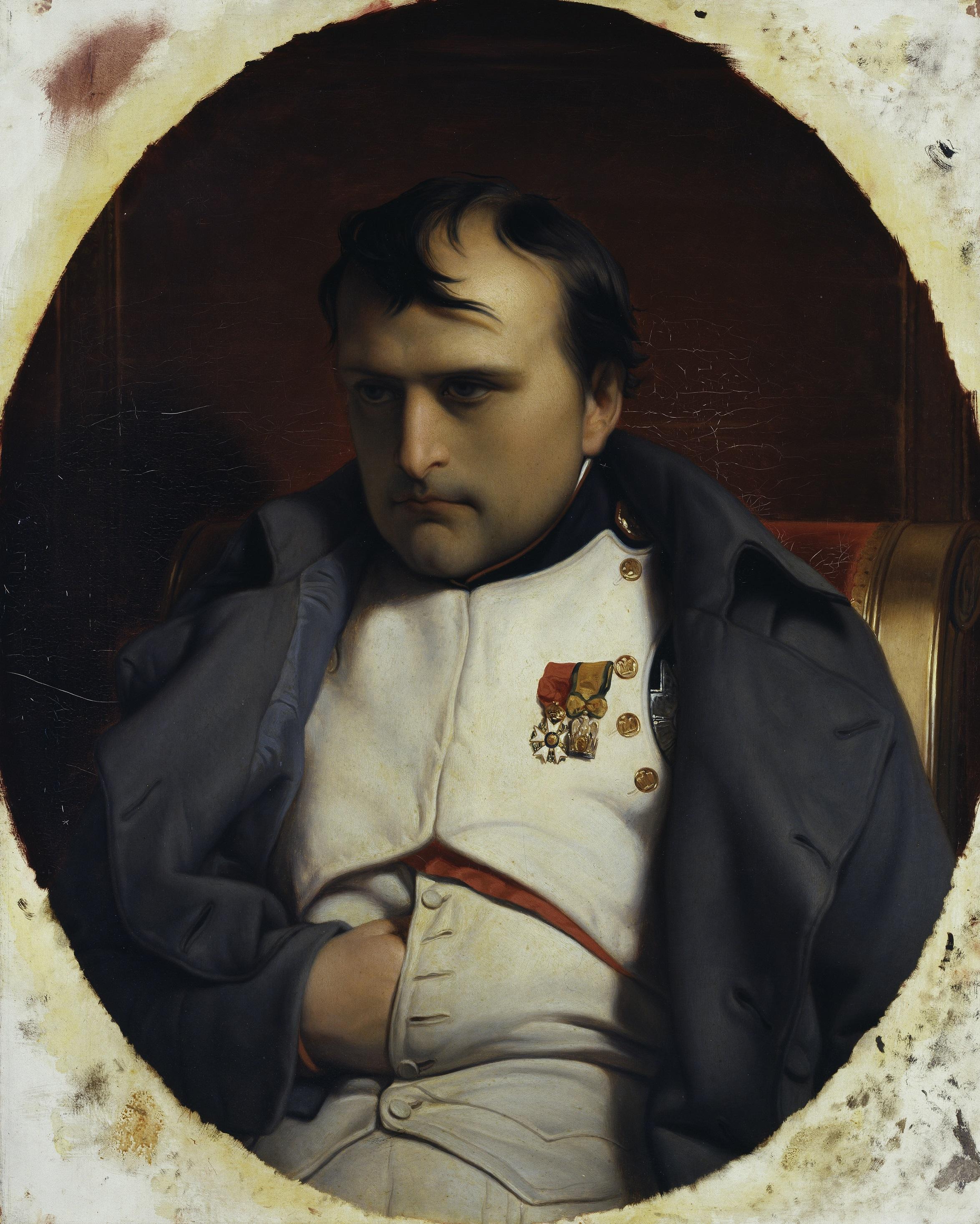 Paul Delaroche (1797-1856), Napoleon in Fontainebleau, 1846, © Hamburger Kunsthalle / bpk Foto: Elke Walford