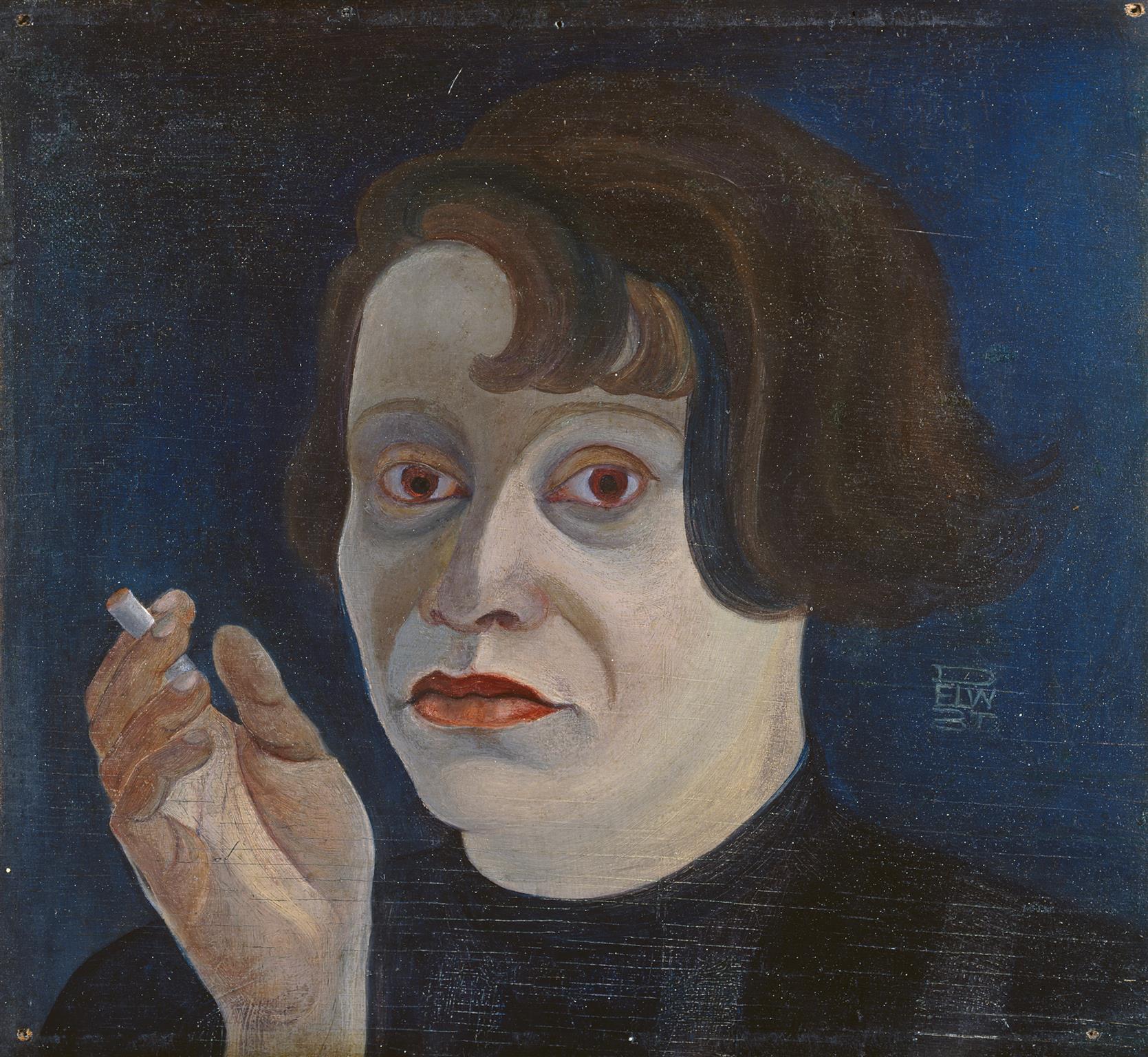 Elfriede Lohse-Wächtler, »Selbstbildnis mit Zigarette«, 1931, © Privatsammlung in der Hamburger Kunsthalle / bpk, Foto: Elke Walford