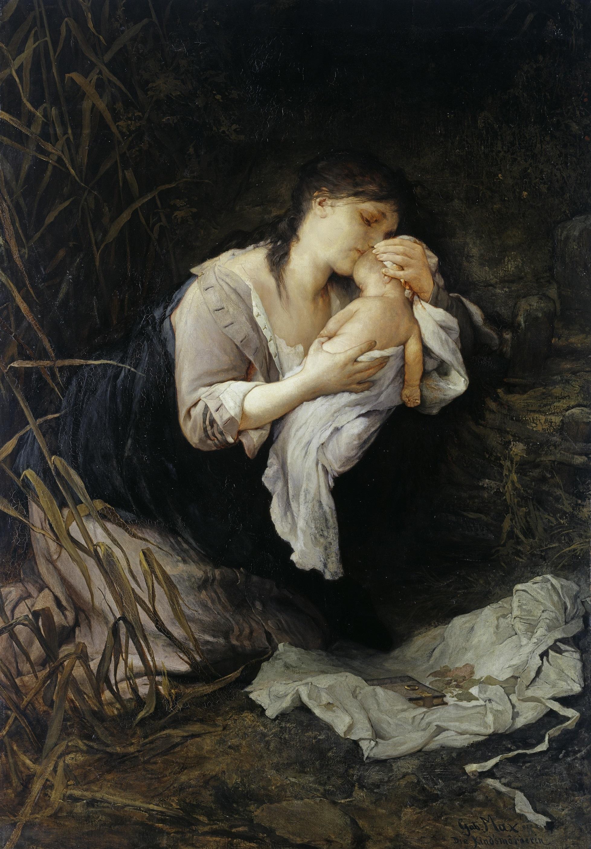 Gabriel Cornelius Ritter von Max (1840-1915), Die Kindsmörderin, 1877, © Hamburger Kunsthalle / bpk Foto: Elke Walford