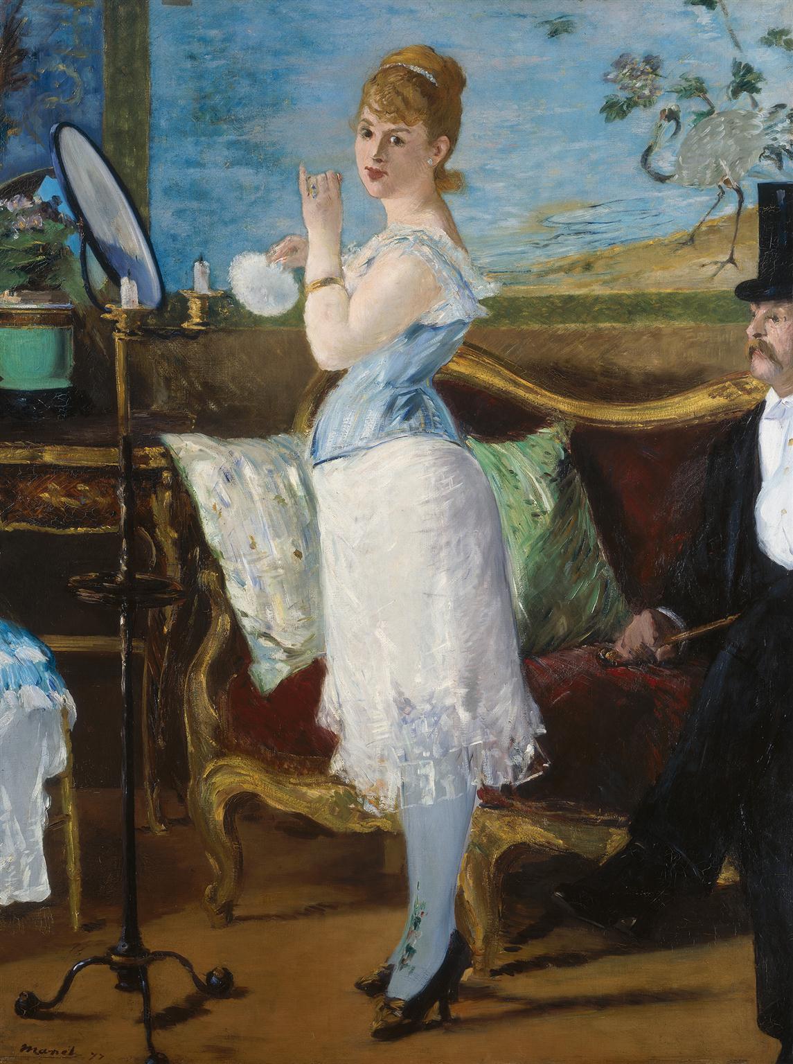 Edouard Manet (1832 - 1883) Nana, 1877 Öl auf Leinwand 154 x 115 cm © Hamburger Kunsthalle / bpk Foto: Elke Walford