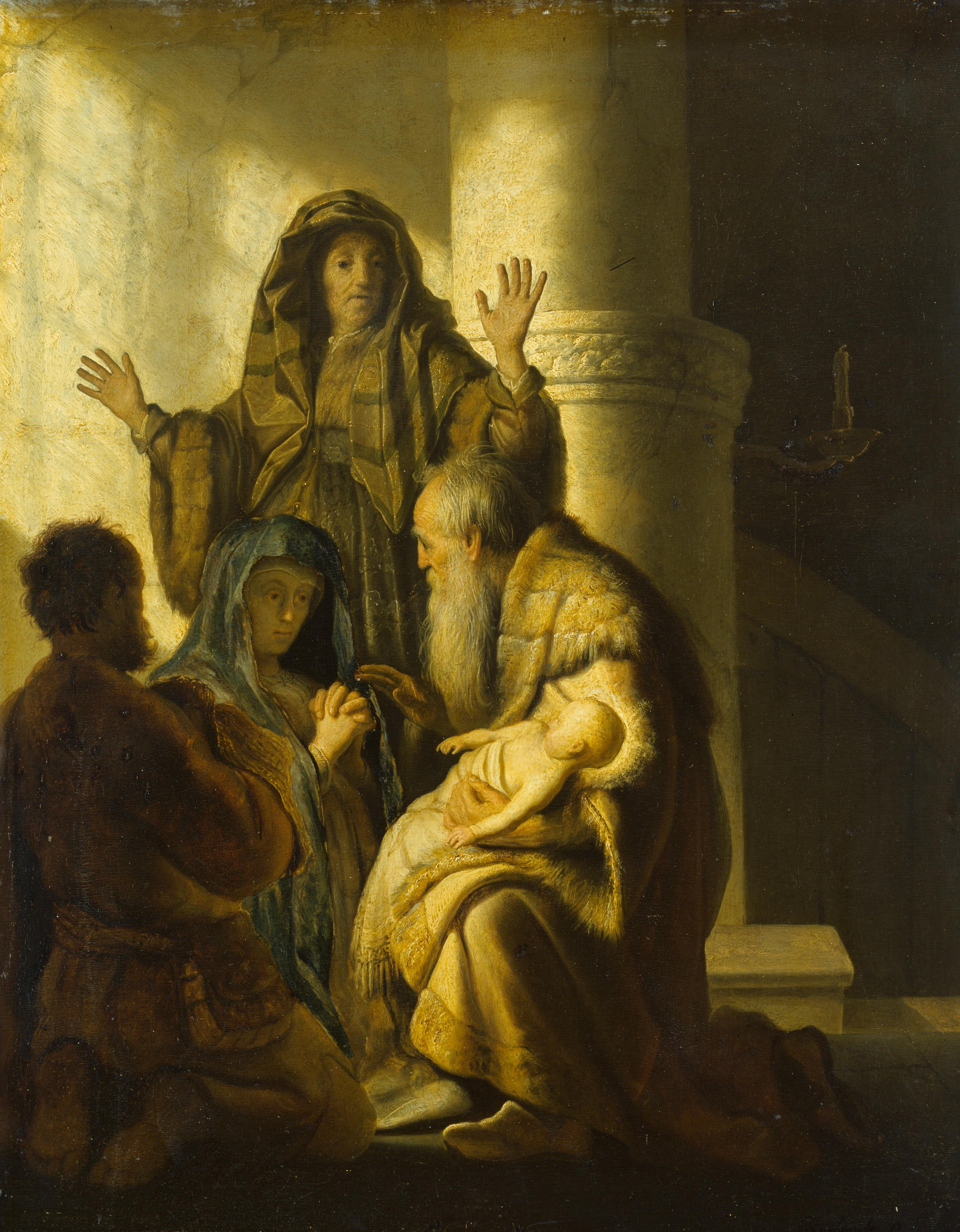 Rembrandt: Simeon und Hanna im Tempel, 1627 ©Hamburger Kunsthalle/bpk, Foto: Elke Walford