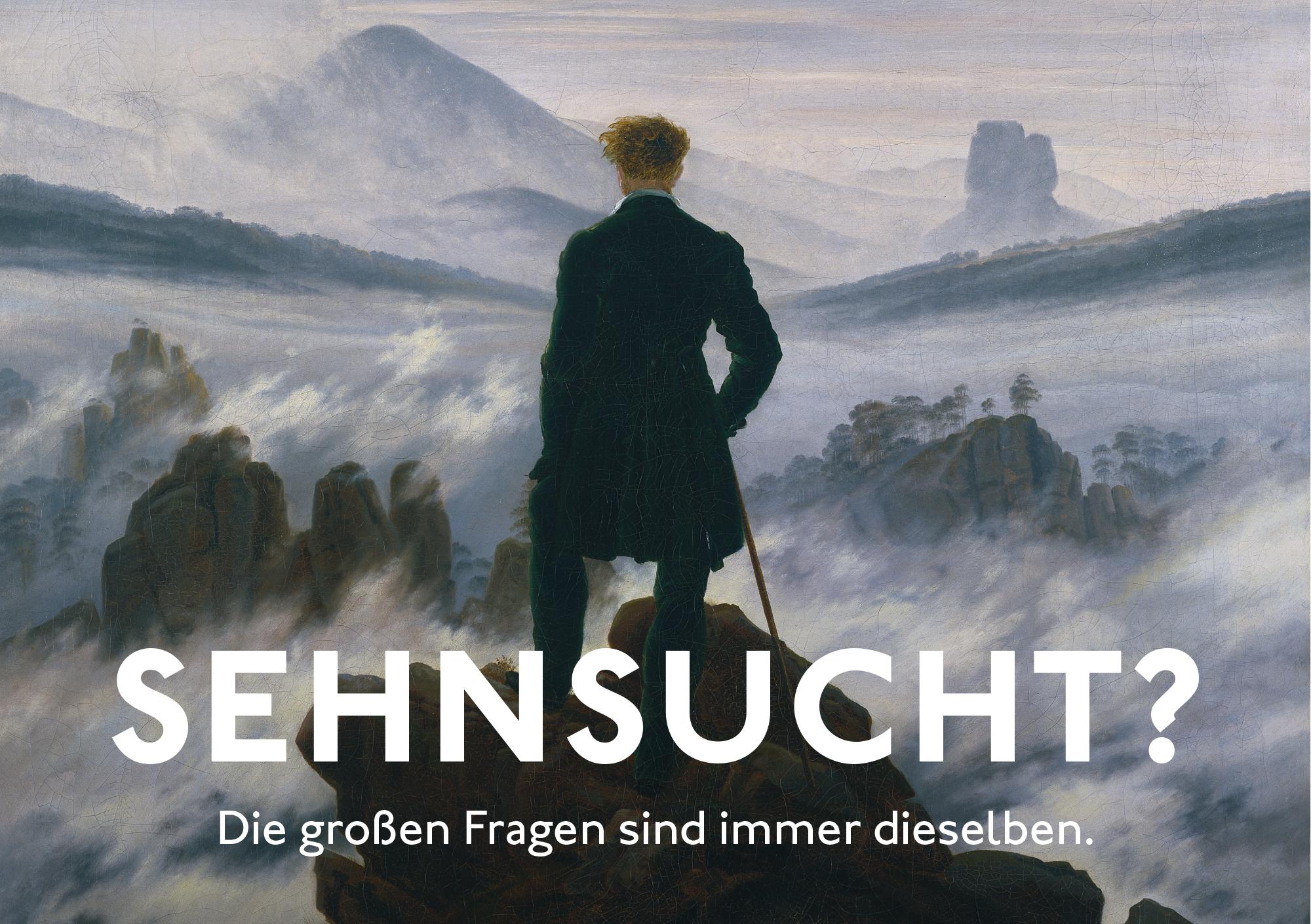 Caspar David Friedrich, Wanderer über dem Nebelmeer, um 1817, Dauerleihgabe der Stiftung Hamburger Kunstsammlungen, Foto: Elke Walford