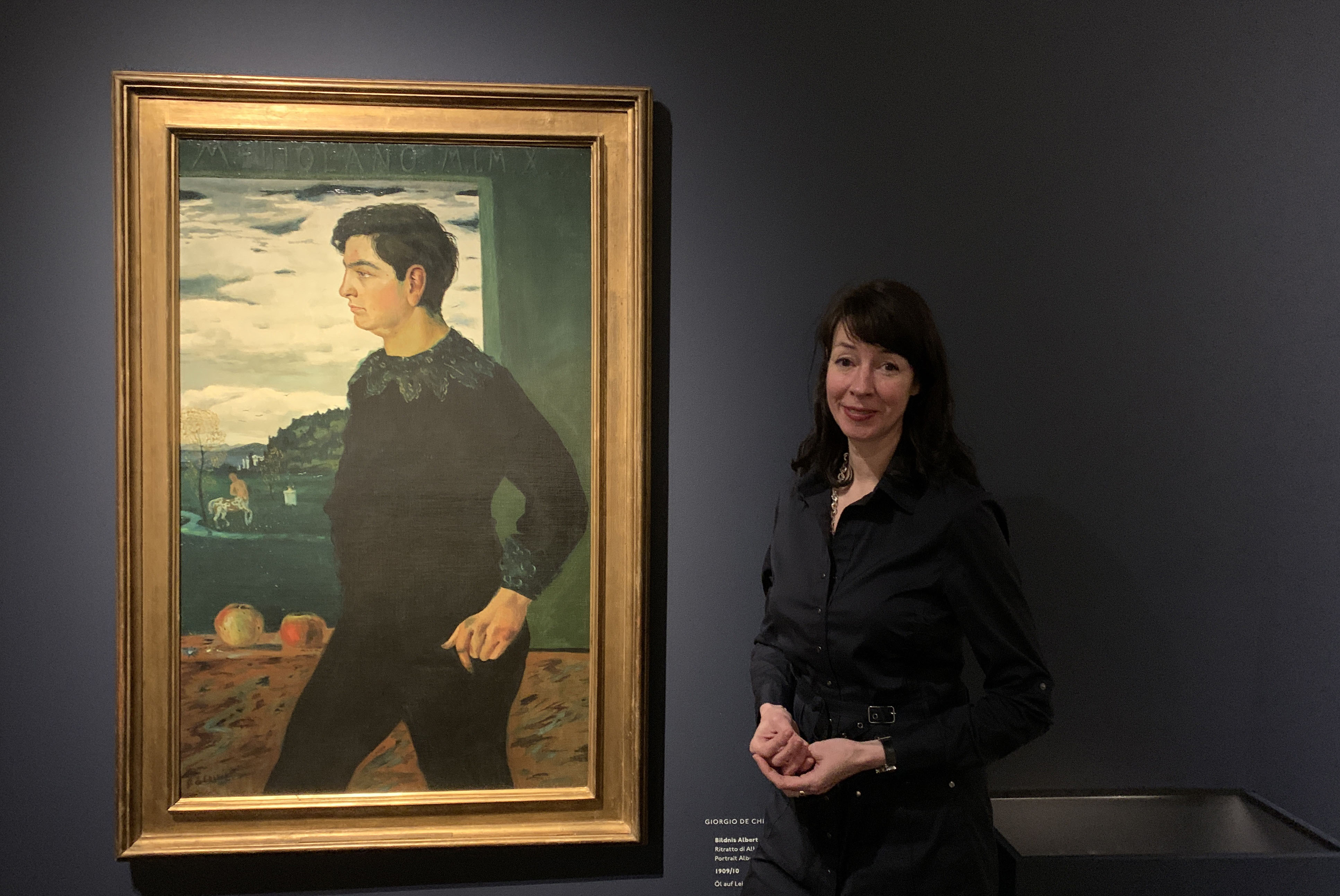 Ausstellung De Chirico. Magische Wirklichkeit mit Kuratorin Dr. Annabelle Görgen-Lammers, Foto Hamburger Kunsthalle