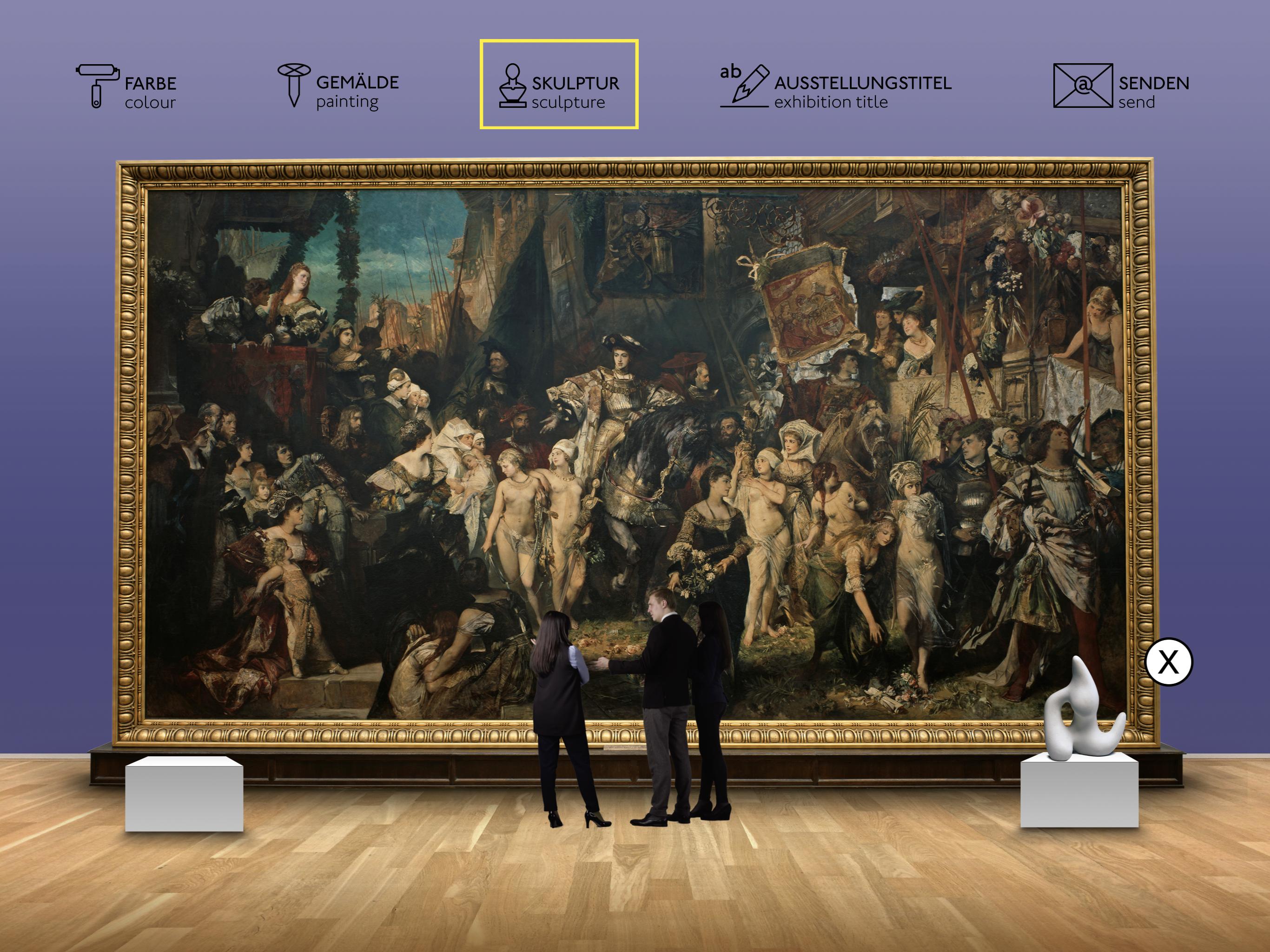 App zum Makart Saal der Hamburger Kunsthalle