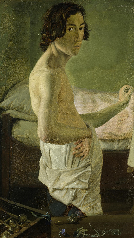 Victor Emil Janssen (1807–1845) Selbstbildnis vor der Staffelei, um 1828 Öl auf Papier auf Leinwand, 56,6 x 32,7 cm © Hamburger Kunsthalle / bpk Foto: Elke Walford