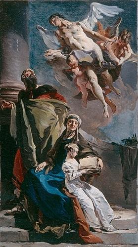 Giovanni Battista Tiepolo, Die Erziehung der Jungfrau Maria, um 1720–1722