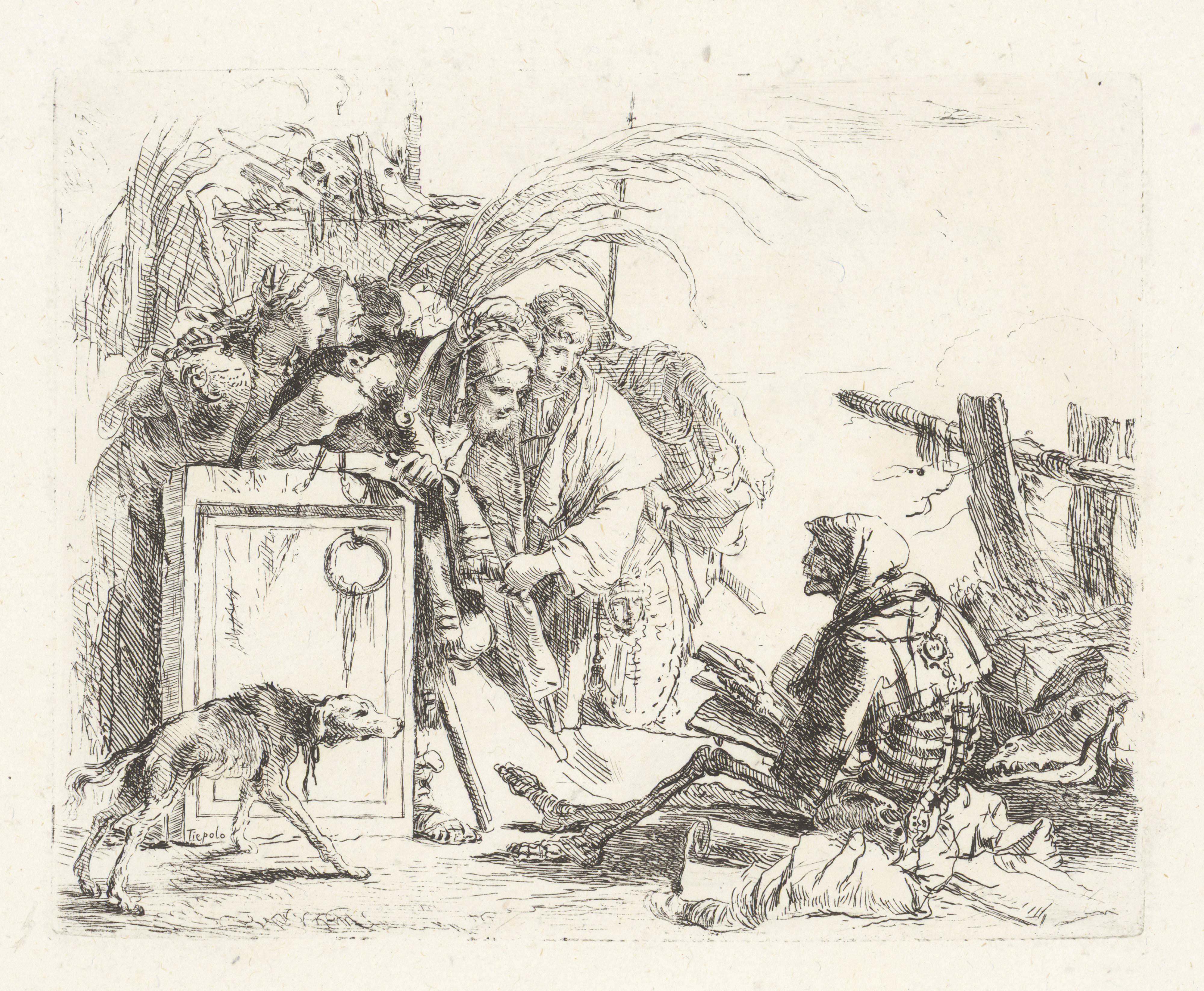 GIOVANNI BAT T I S TA TIEPOLO Der Tod empfängt zur Audienz, 1741/42 Vari Capricci Hamburger Kunsthalle, Kupferstichkabinett