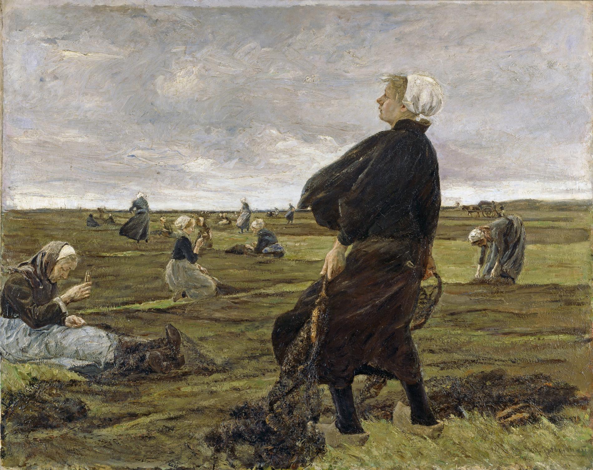 Max Liebermann, 1847 - 1935, Die Netzflickerinnen, 1887/89, 180,5 x 226 cm , Öl auf Leinwand, © Hamburger Kunsthalle / bpk Foto: Elke Walford