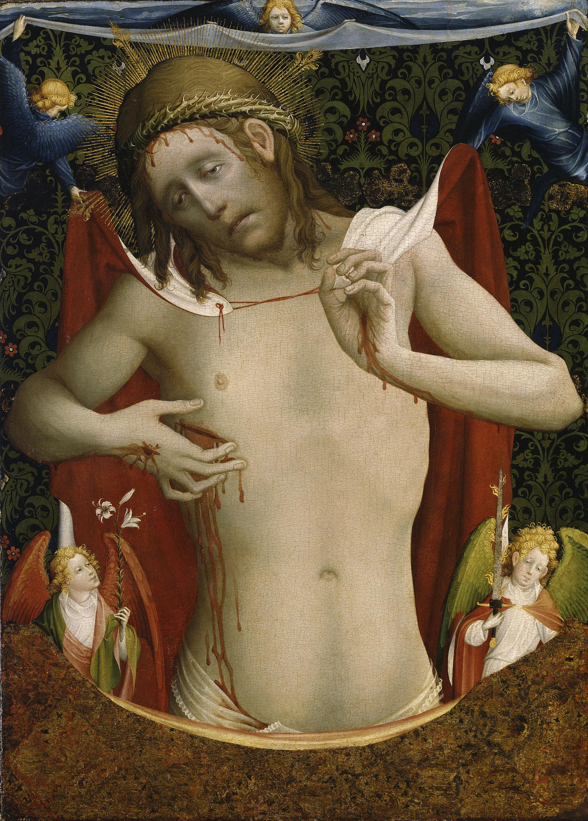 Meister Francke, Christus als Schmerzensmann, um 1435, Foto: Elke Walford
