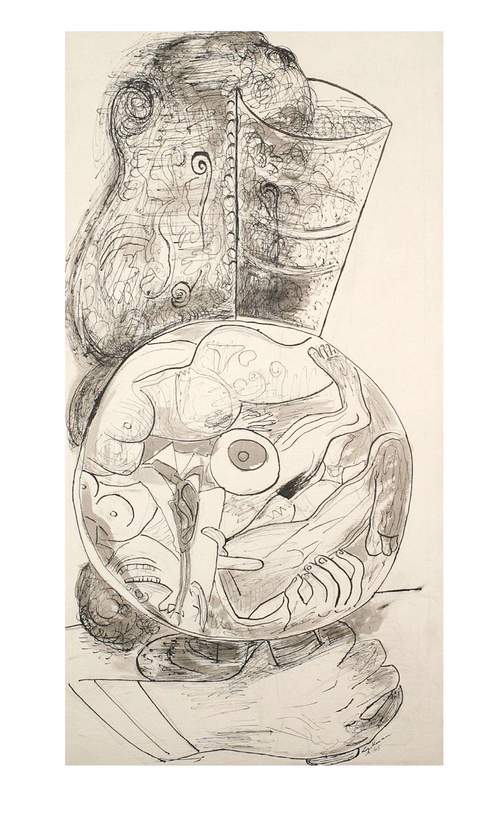 Max Beckmann, Mirror (Champagne Fantasy), 1945