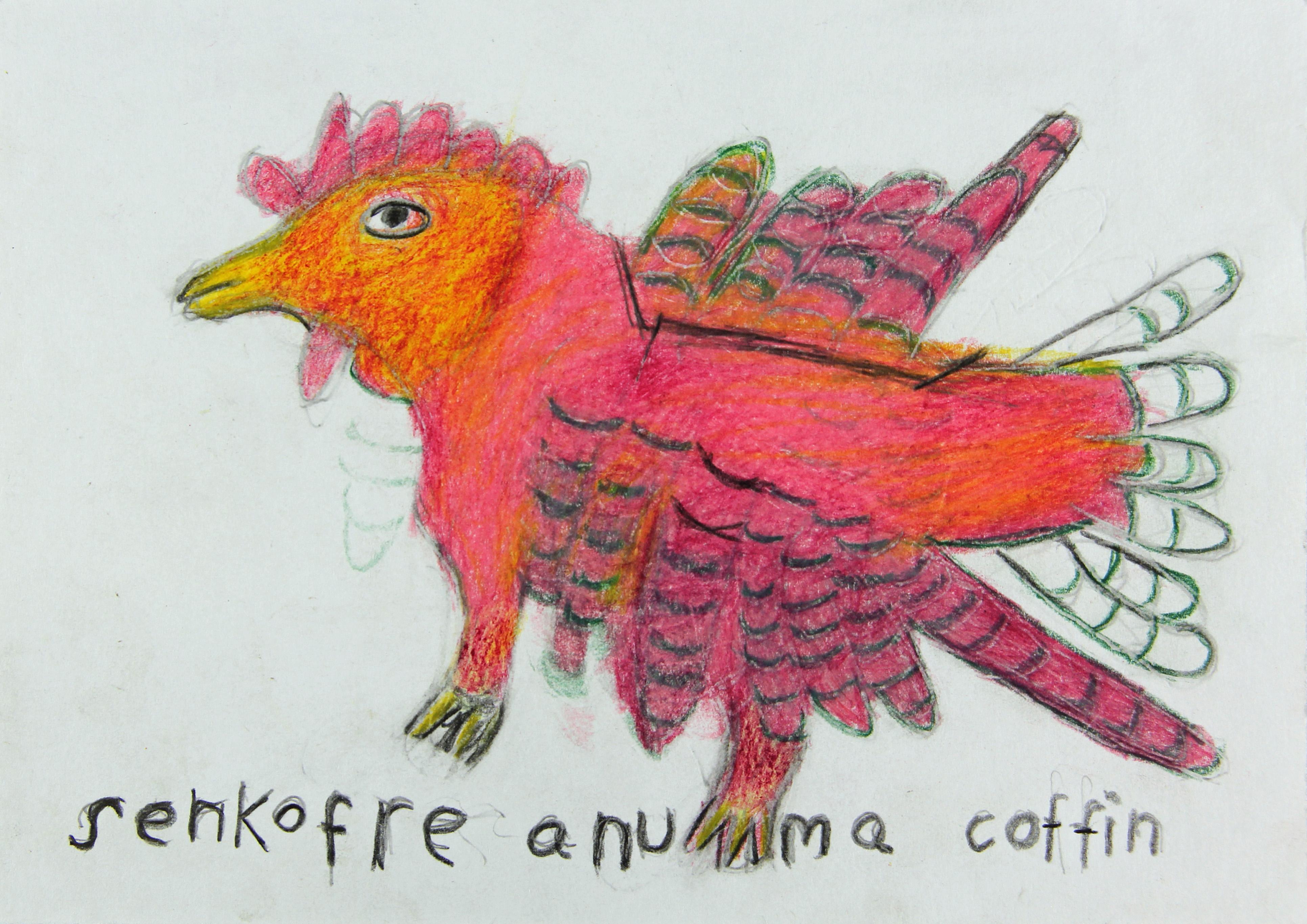 Ataa Oko (*um 1919–2012) Ohne Titel, 2004–2007 80 Zeichnungen, Bunt- und Bleistift auf Papier, Courtesy Regula Tschumi