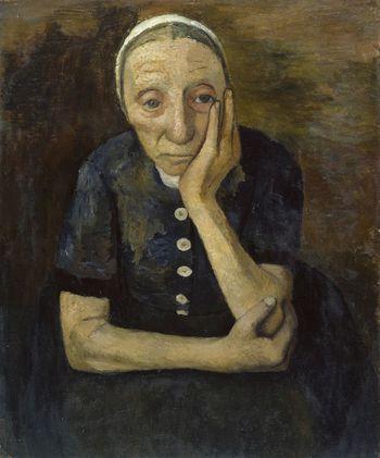 Paula Modersohn-Becker: Alte Moorbäuerin, um 1903 © Hamburger Kunsthalle / bpk, Foto: Elke Walford