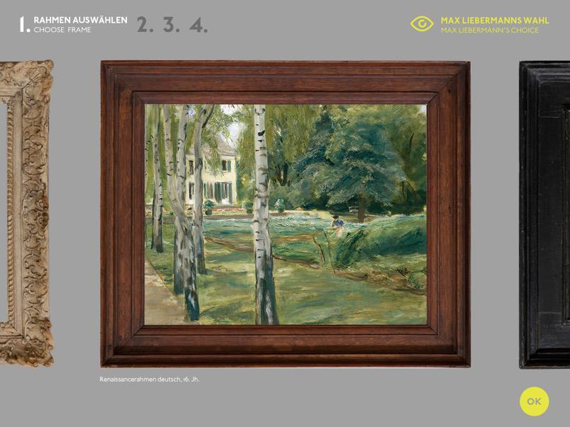 Rahmen-App, Transparentes Museum, Hamburger Kunsthalle