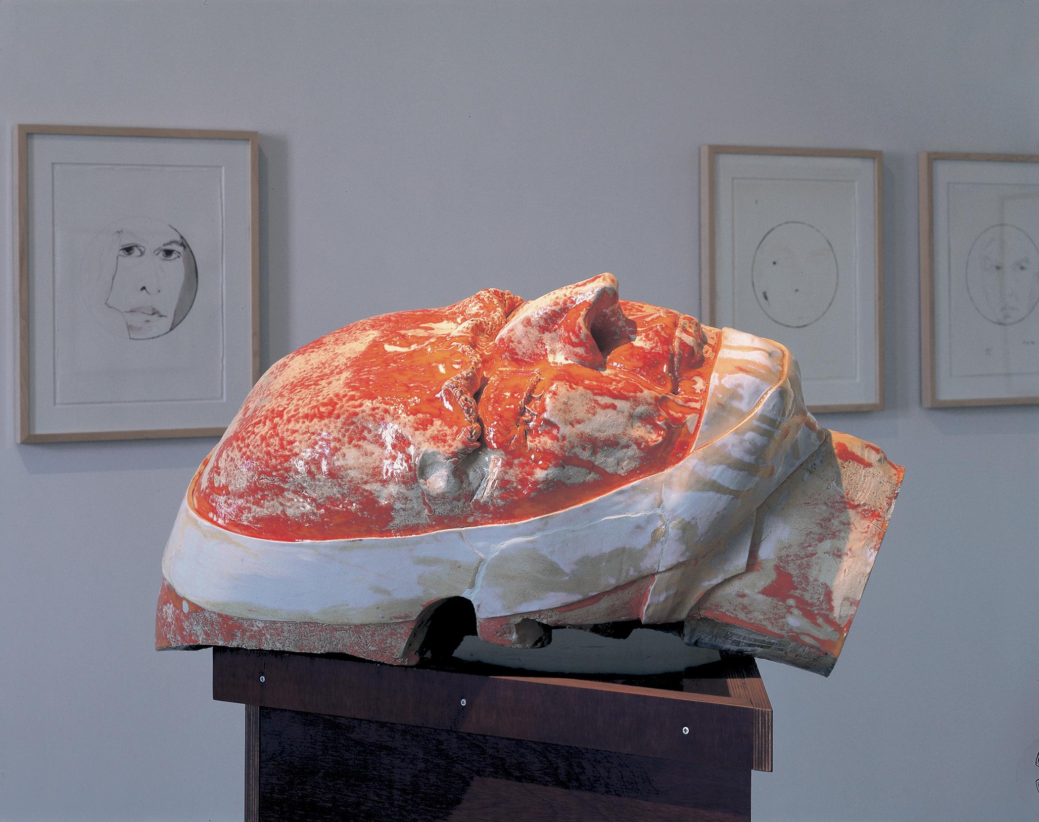 Thomas Schütte, »Roter Kopf«, 1997, © VG Bild-Kunst, Bonn 2020, Foto: Nic Tenwiggenhorn