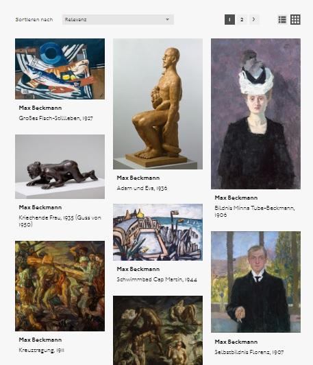 Hamburger Kunsthalle, Sammlung Online