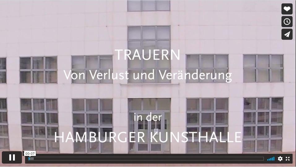 """Video zu der Ausstellung """"Trauern. Von Verlust und Einsamkeit"""",  Hamburger Kunsthalle 2020"""
