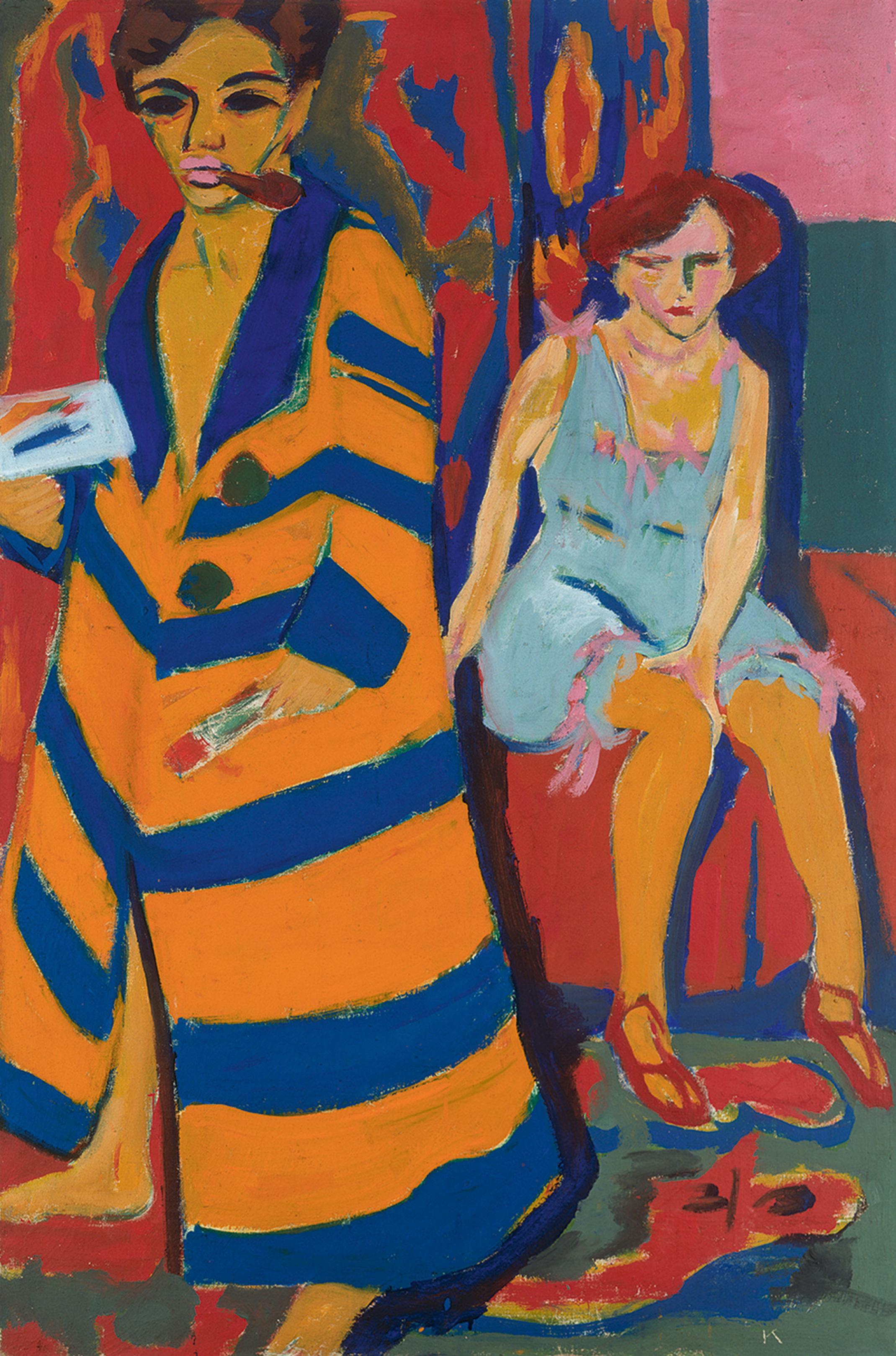 ... Ernst Ludwig Kirchner Maler Und Modell, 1910/1926 Öl Auf Leinwand,  150,4 X 100 Cm