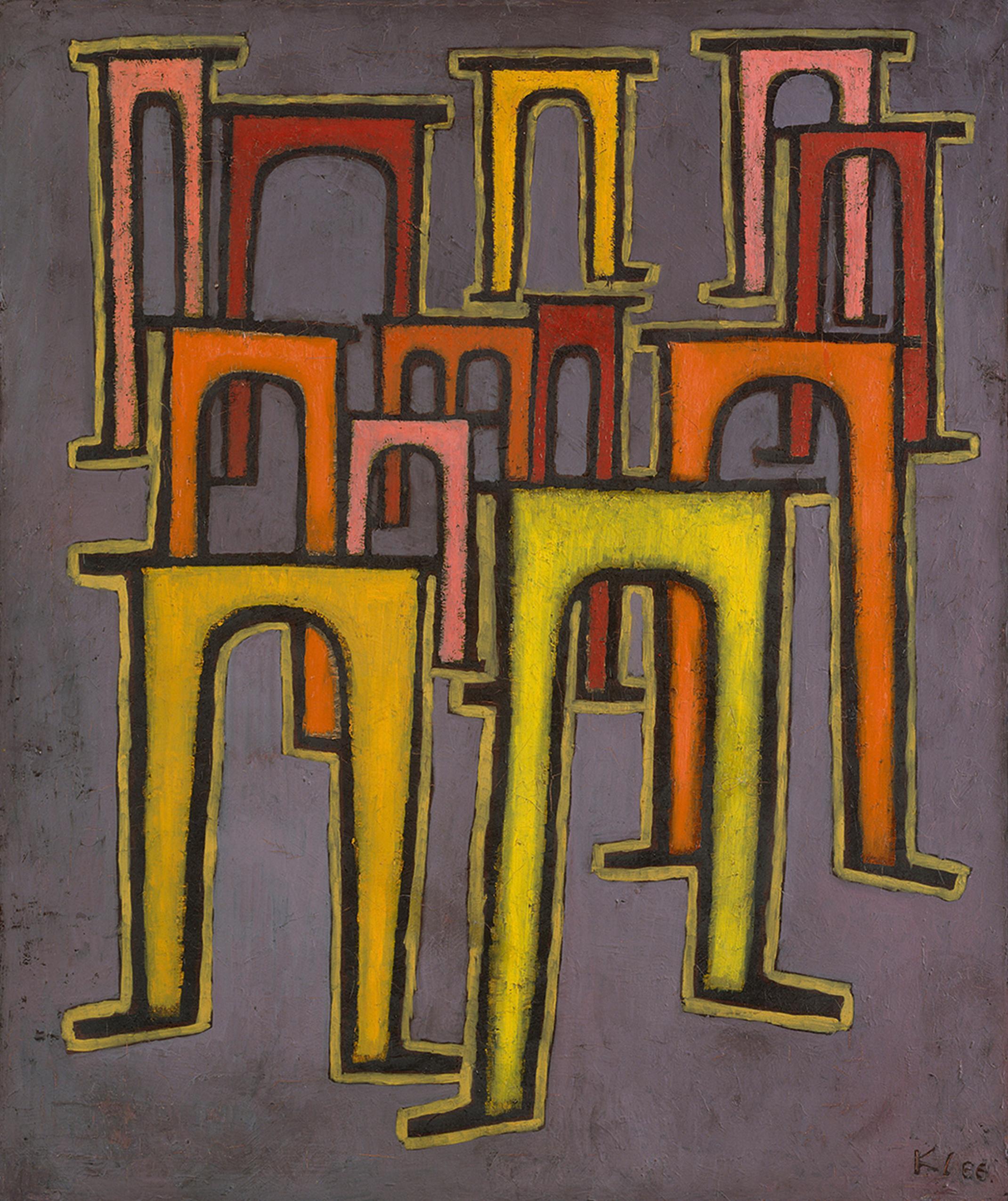 Inv. HK 5165 Paul Klee Revolution Des Viaductes, 1937 Öl Auf Leinwand, 60 X  50 Cm. Inv. HK 2899