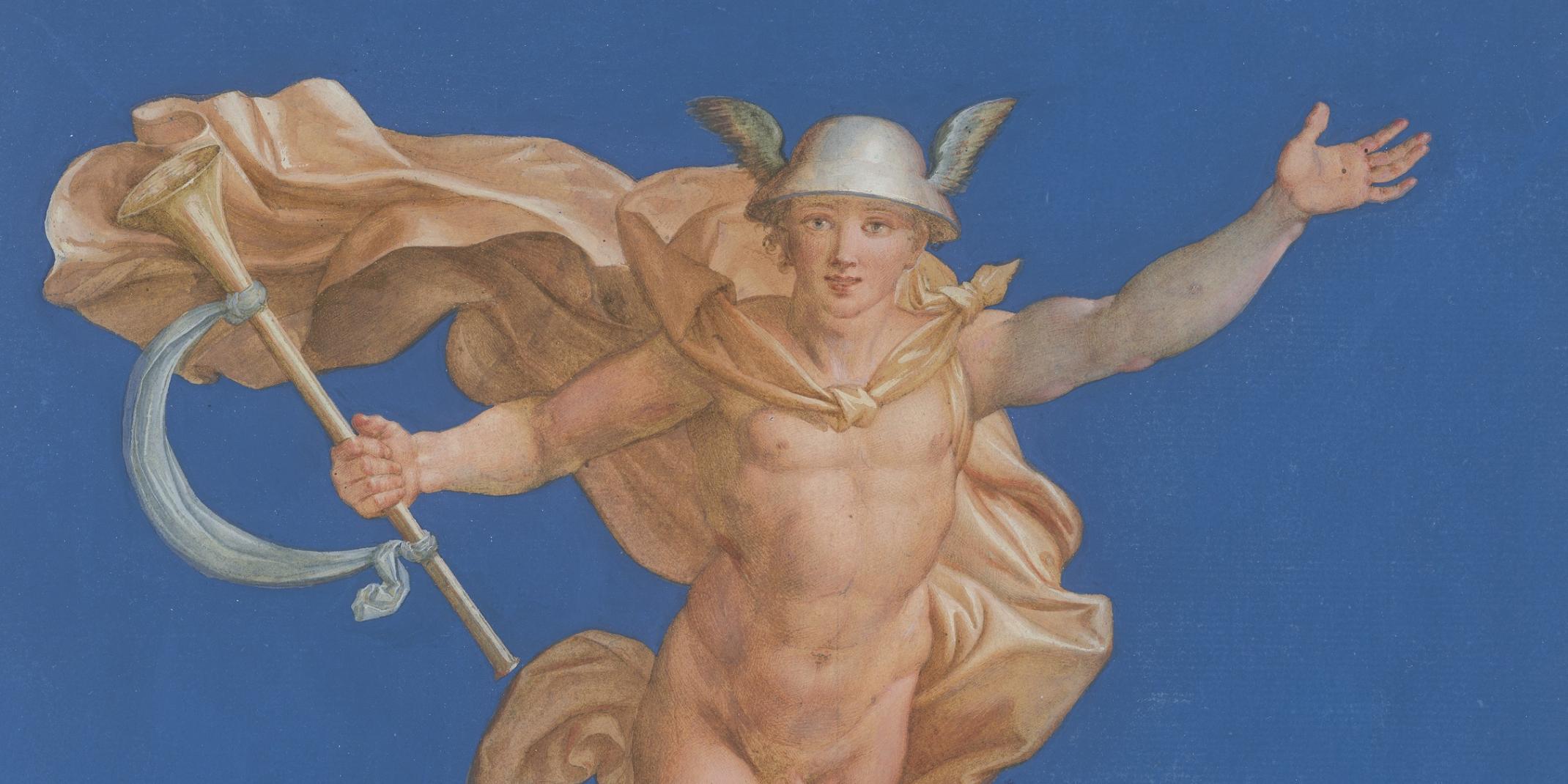 Erwin Speckter, (1806 - 1835), Zeichner nach Raffael (1483-1520), Mercurio, Zeichnung, © Hamburger Kunsthalle / bpk  Foto: Christoph Irrgang